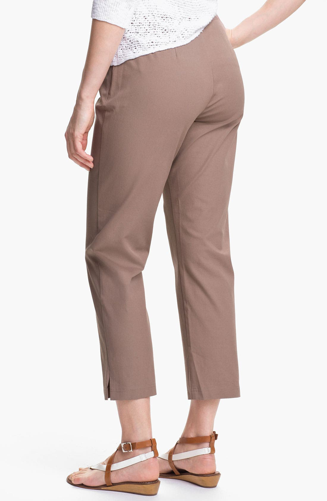 Organic Stretch Cotton Twill Ankle Pants,                             Alternate thumbnail 43, color,