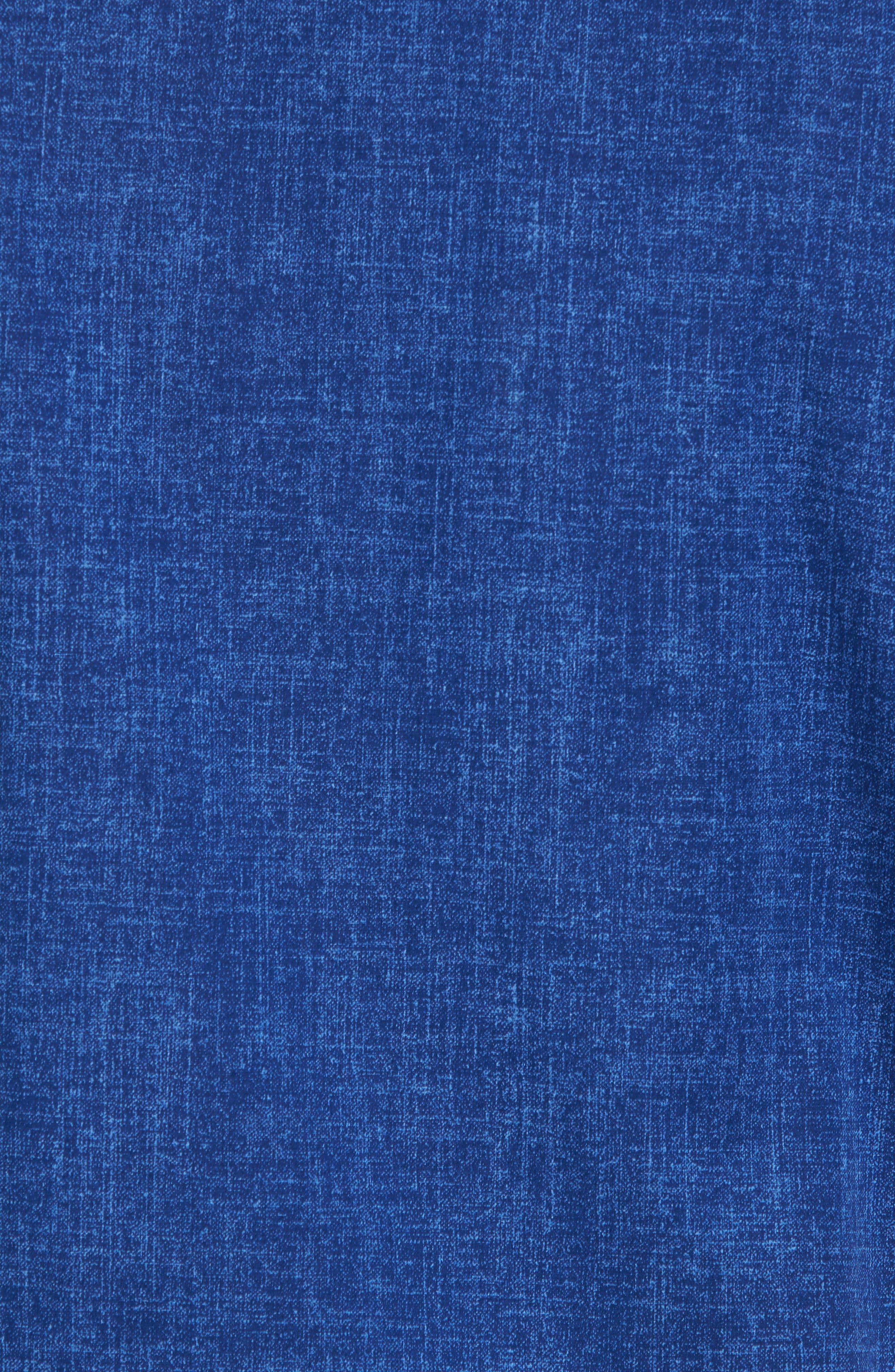 Chambray Print Classic Fit Sport Shirt,                             Alternate thumbnail 5, color,                             411