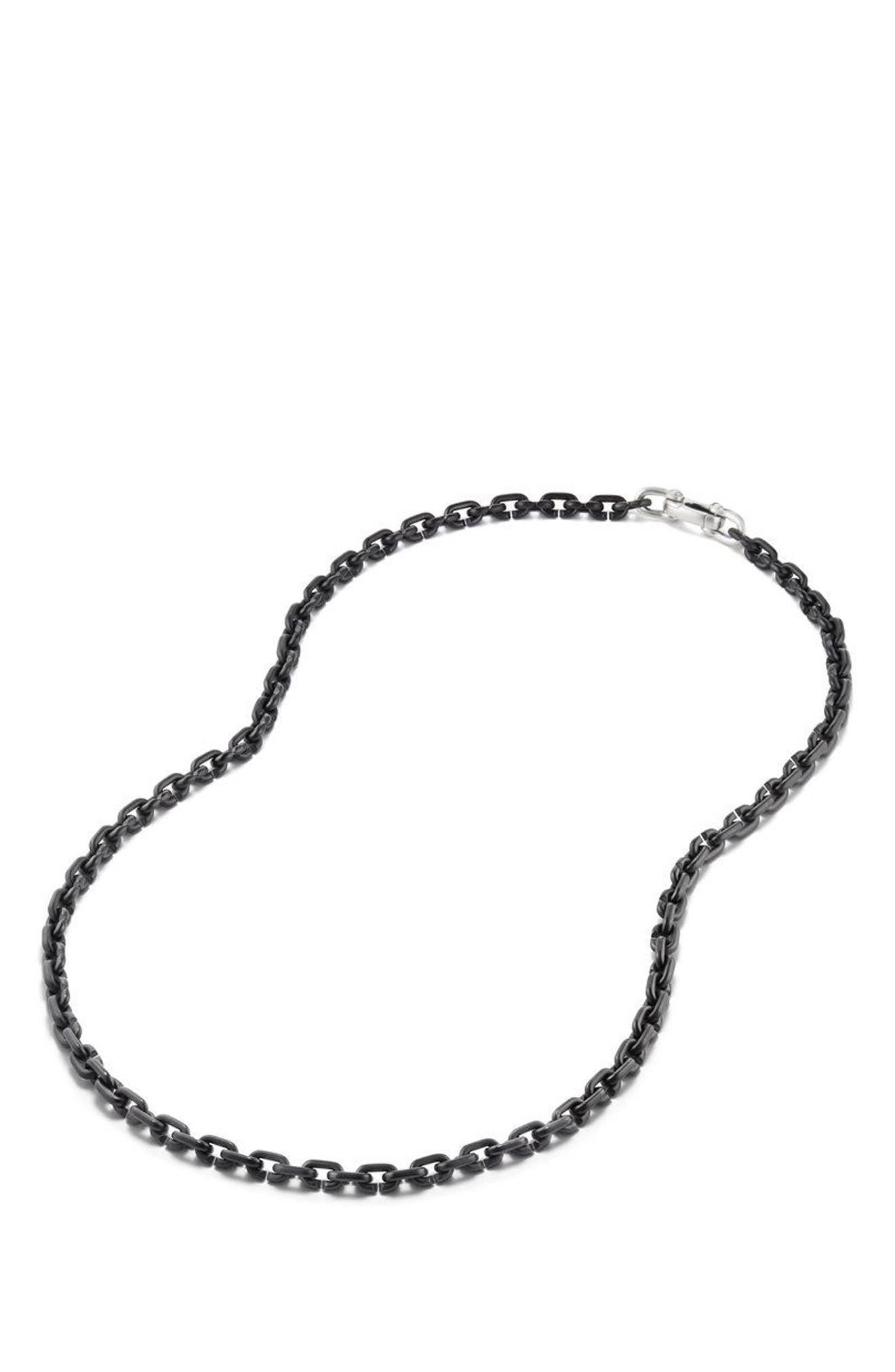 Narrow Chain Link Necklace,                             Alternate thumbnail 2, color,                             TITANIUM