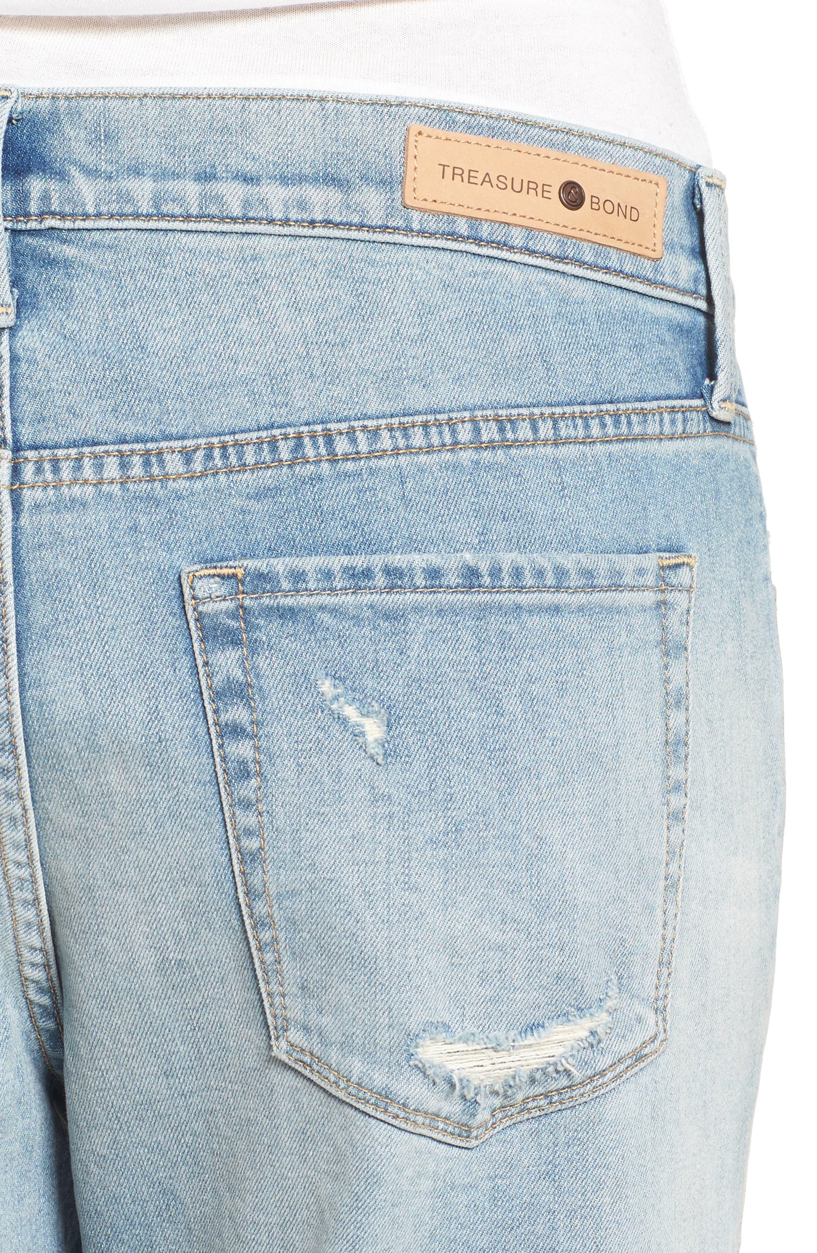 TREASURE & BOND,                             Boyfriend Jeans,                             Alternate thumbnail 4, color,                             400