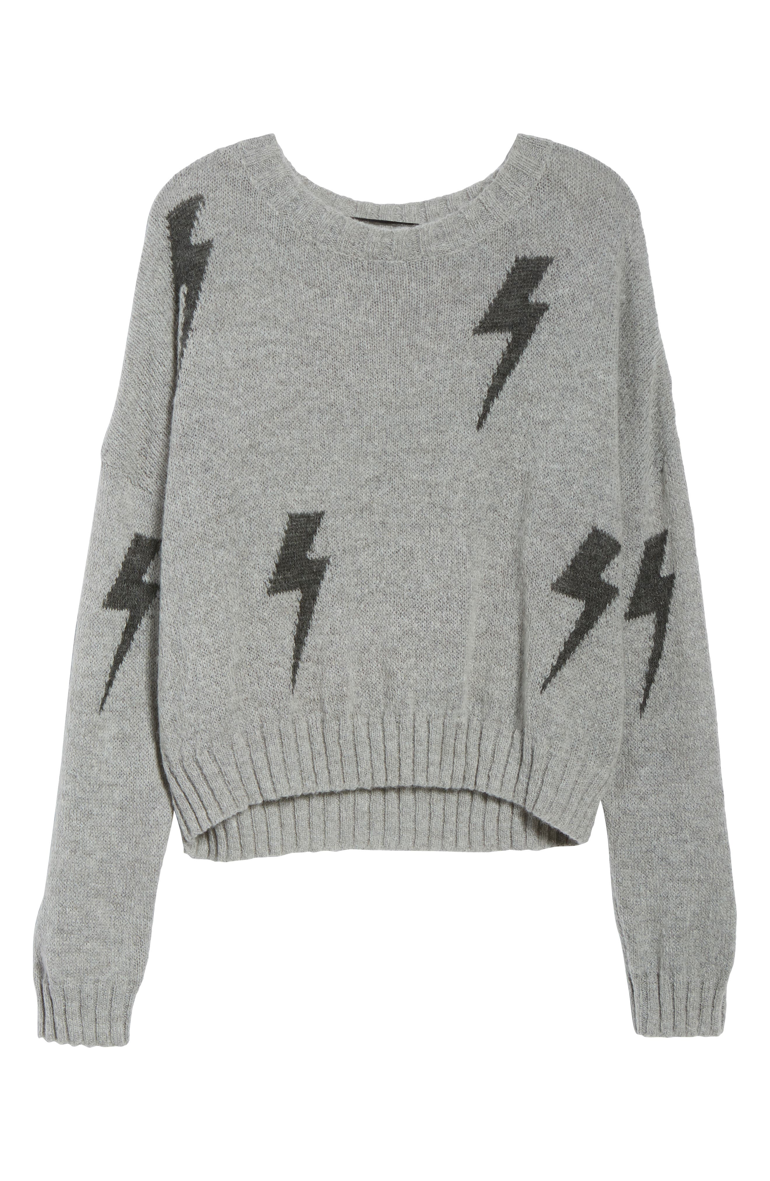 Perci Sweater,                             Alternate thumbnail 7, color,                             GREY/CHARCOAL LIGHTNING