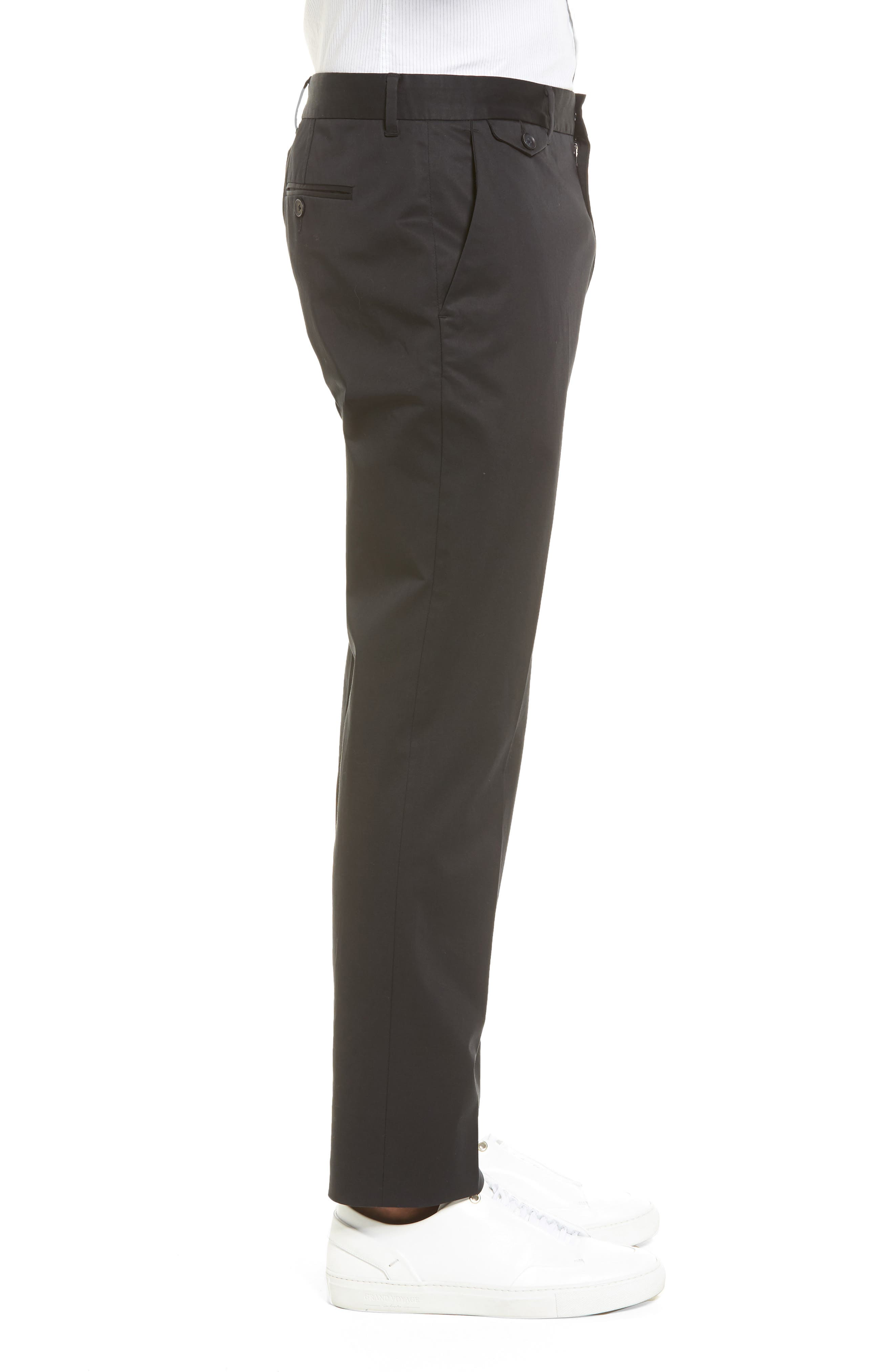 Officer Flat Front Chino Pants,                             Alternate thumbnail 3, color,                             001