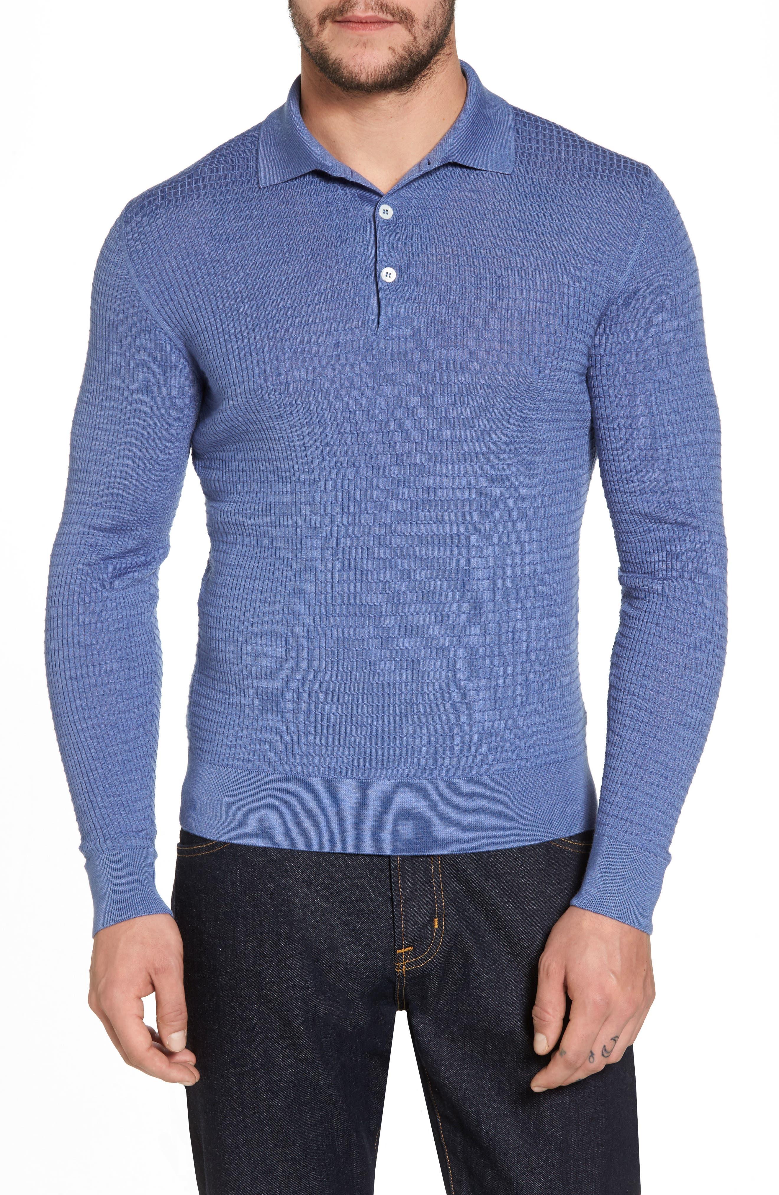 Silk & Cashmere Blend Polo,                         Main,                         color, 400