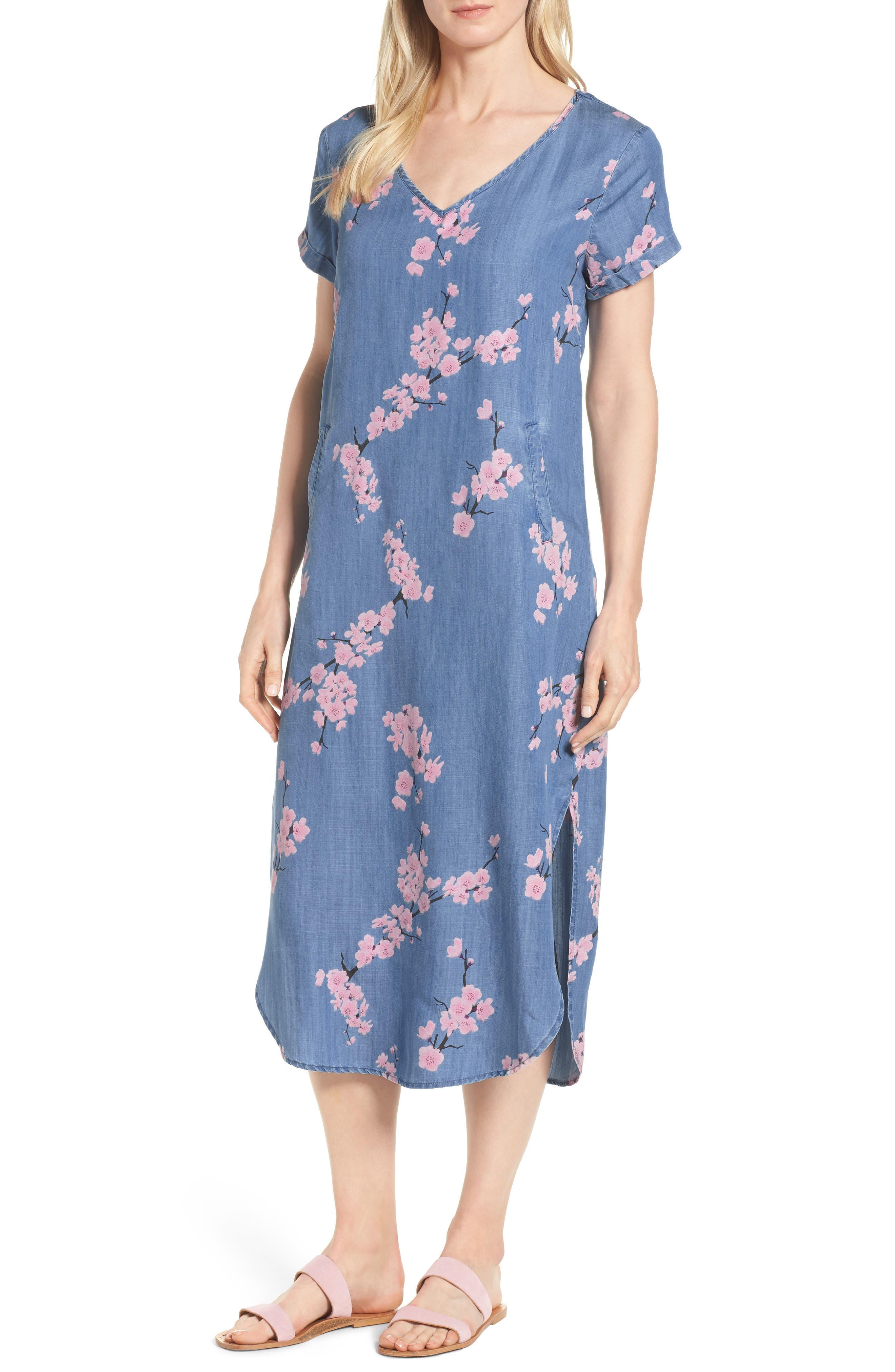Cherry Blossom Shift Dress,                         Main,                         color, 420