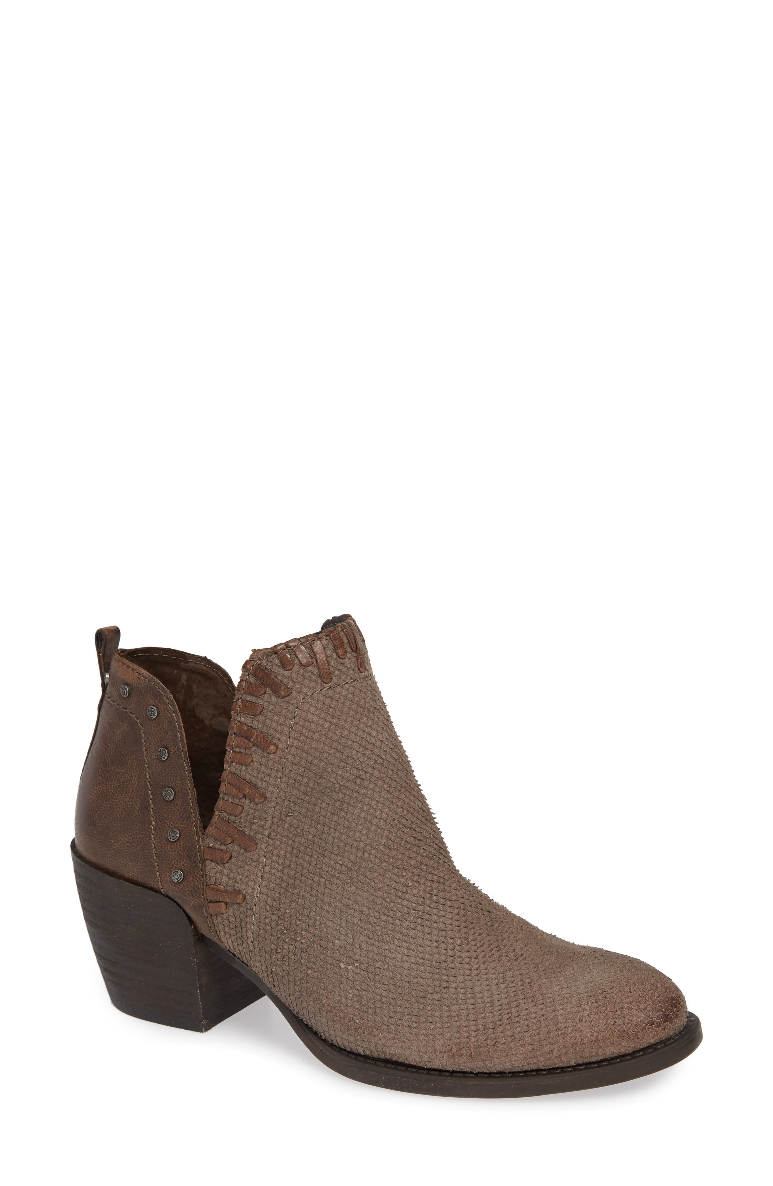 Santa Fe Ankle Bootie,                             Main thumbnail 1, color,                             CINDER LEATHER