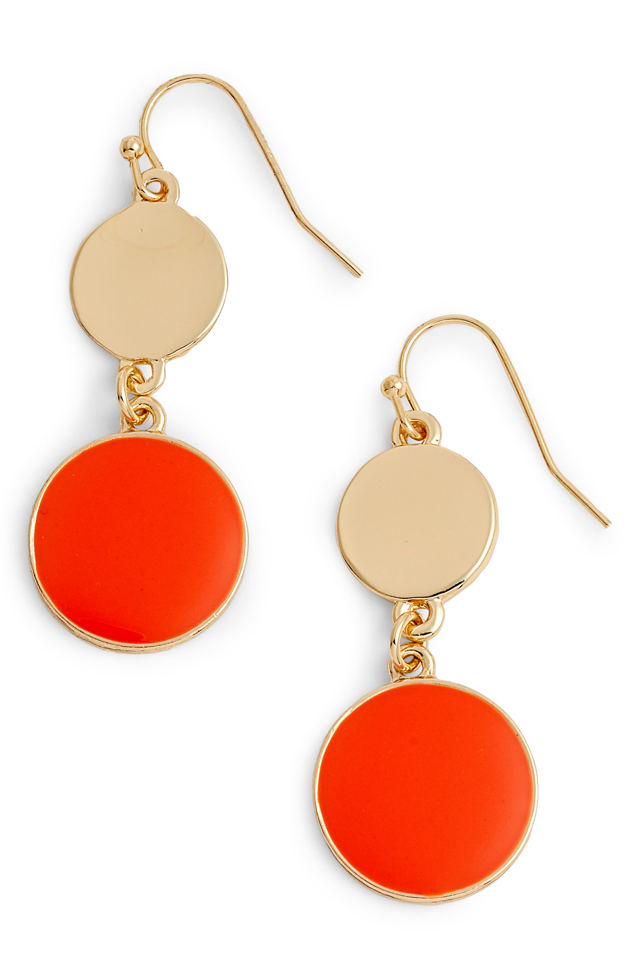 Double Disc Drop Earrings,                             Main thumbnail 2, color,