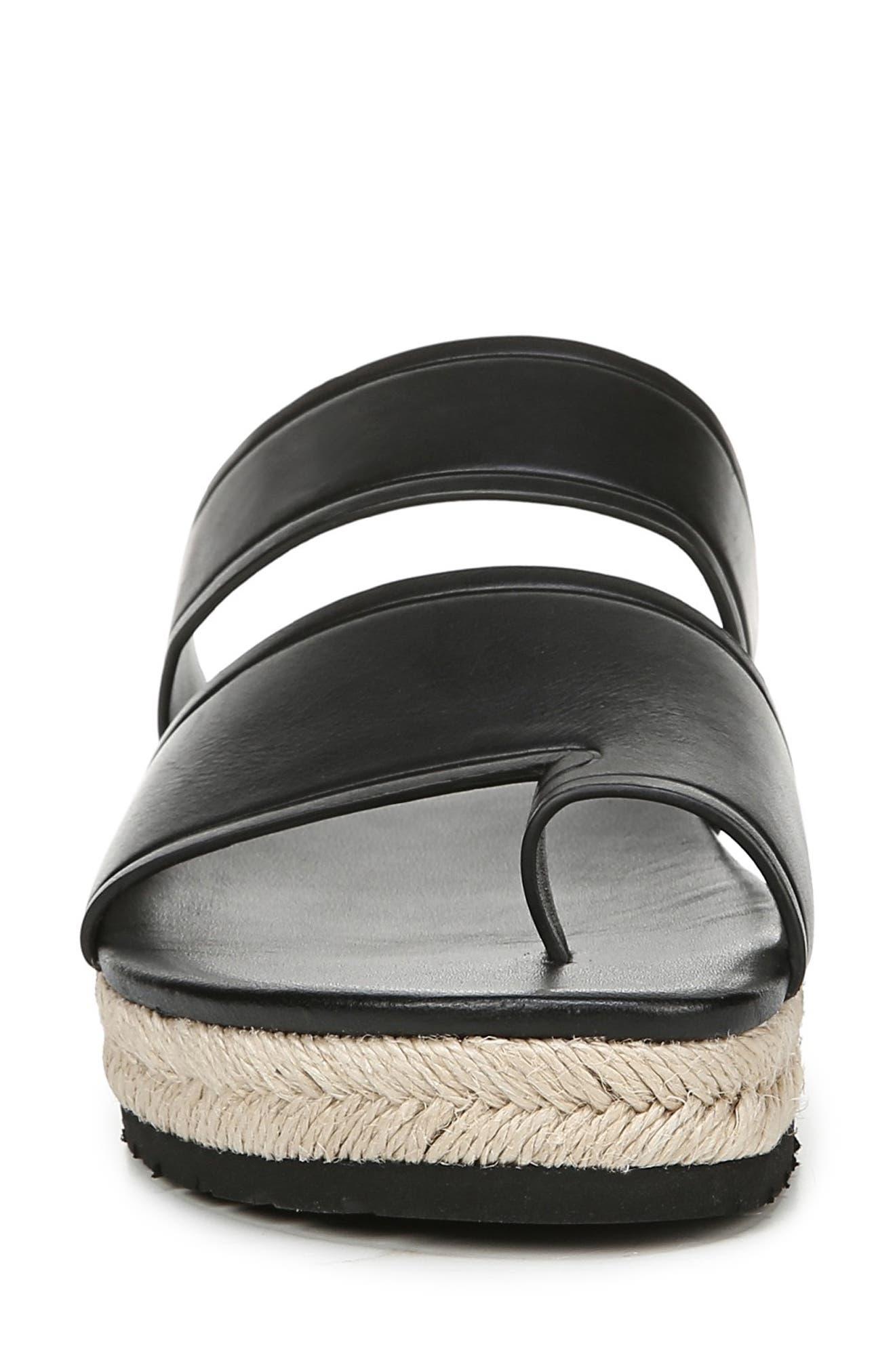 VINCE,                             Floyd Platform Slide Sandal,                             Alternate thumbnail 4, color,                             BLACK
