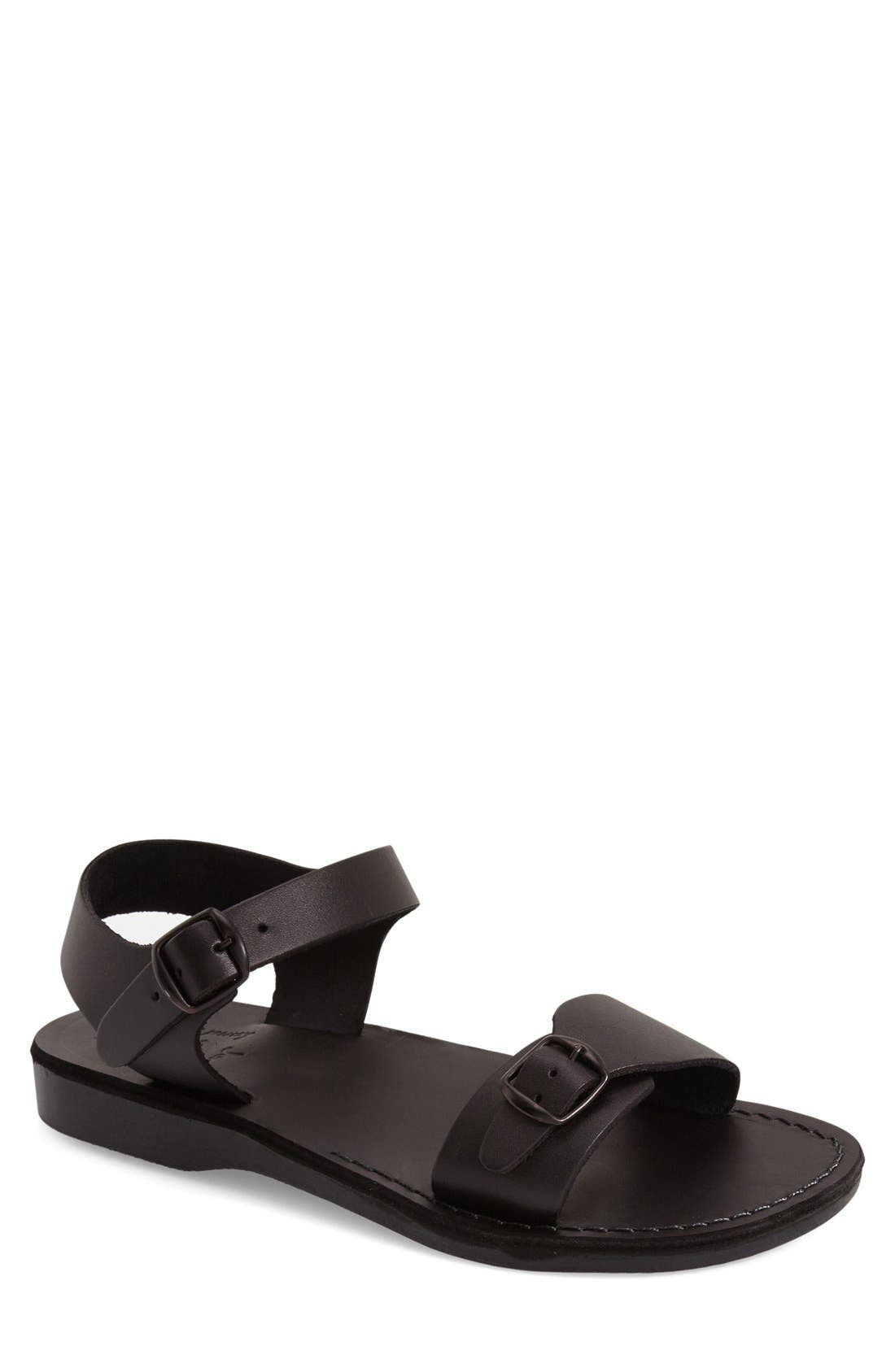 'The Original' Sandal,                         Main,                         color, BLACK LEATHER