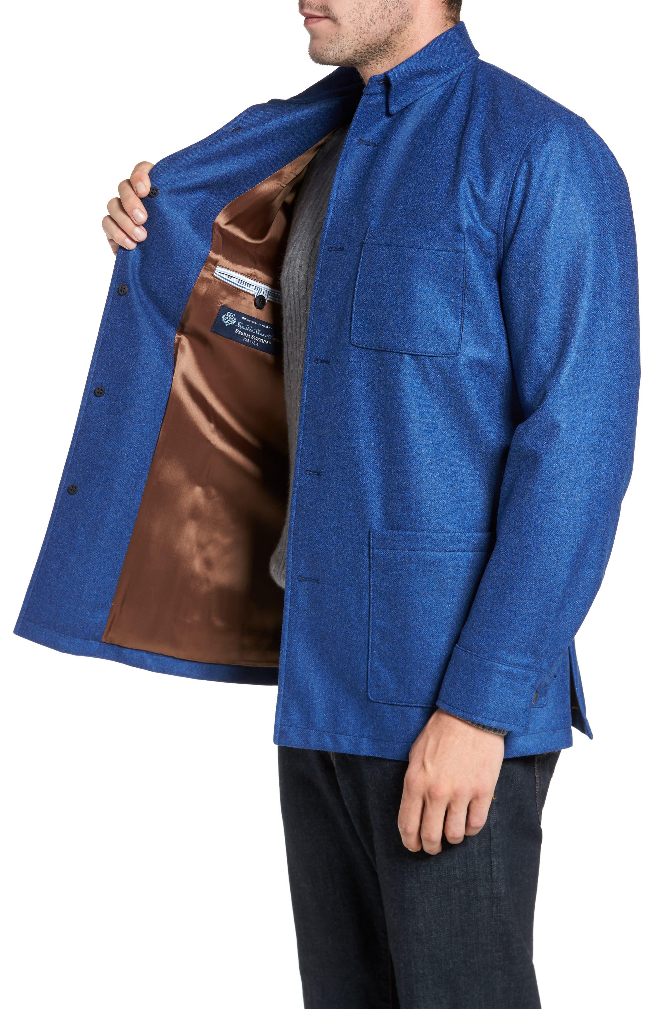 Loro Piana Storm System Shirt Jacket,                             Alternate thumbnail 14, color,