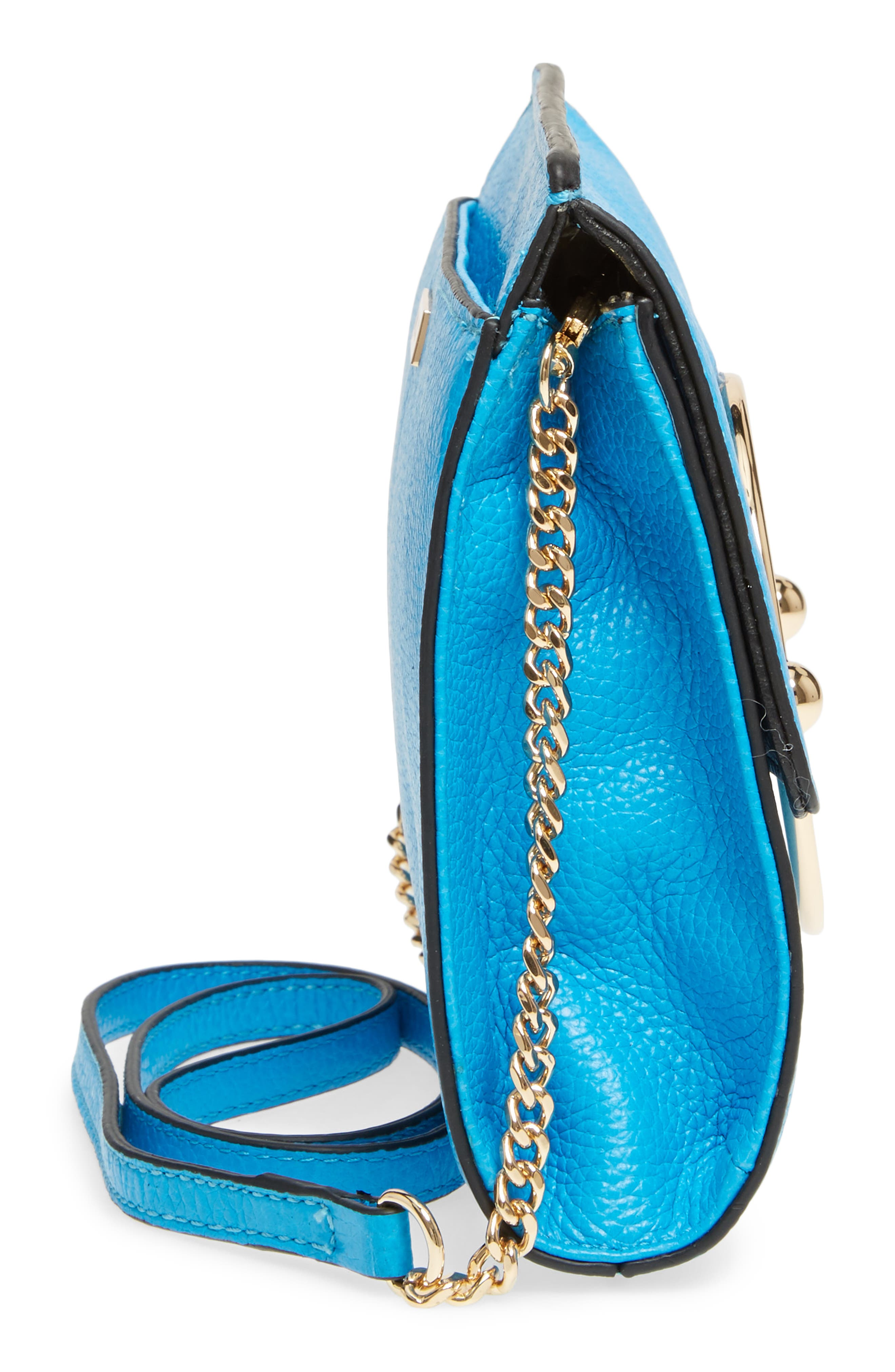 Astor Pebbled Leather Flap Clutch,                             Alternate thumbnail 19, color,