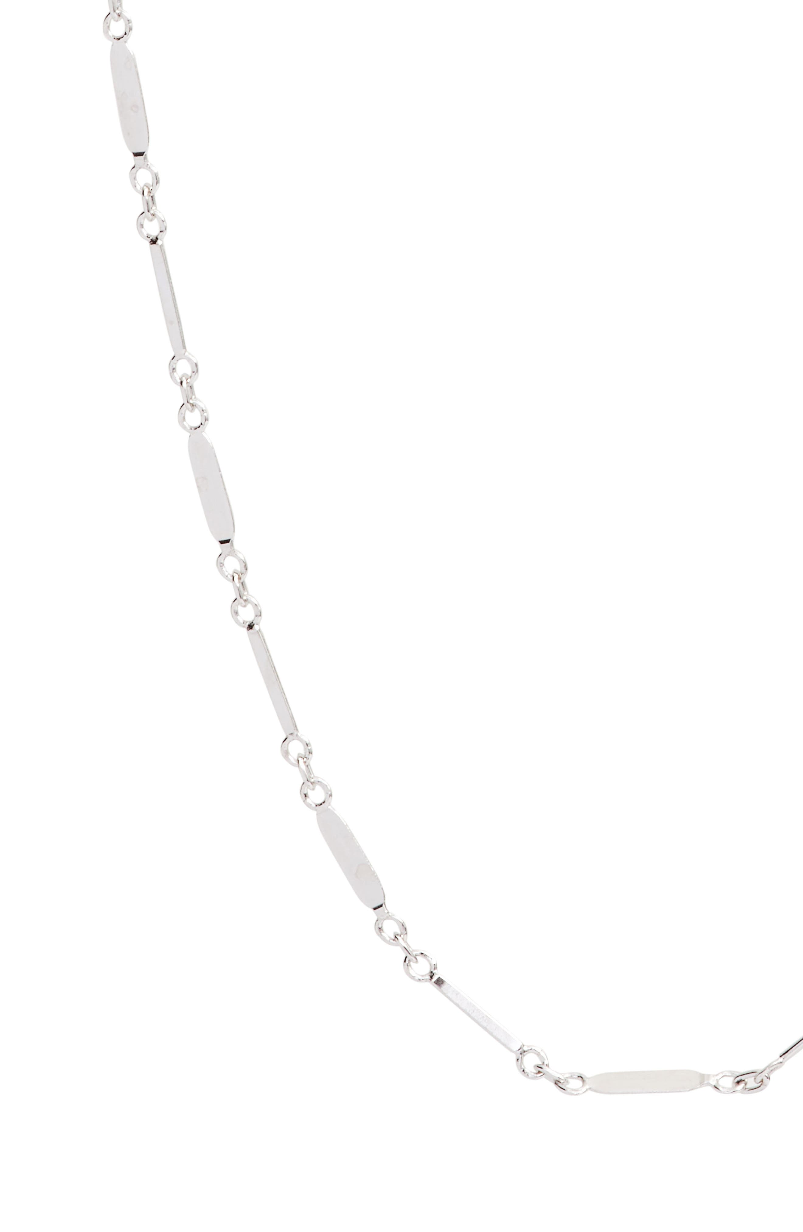 Mirror Bar Station Necklace,                             Alternate thumbnail 2, color,                             SILVER