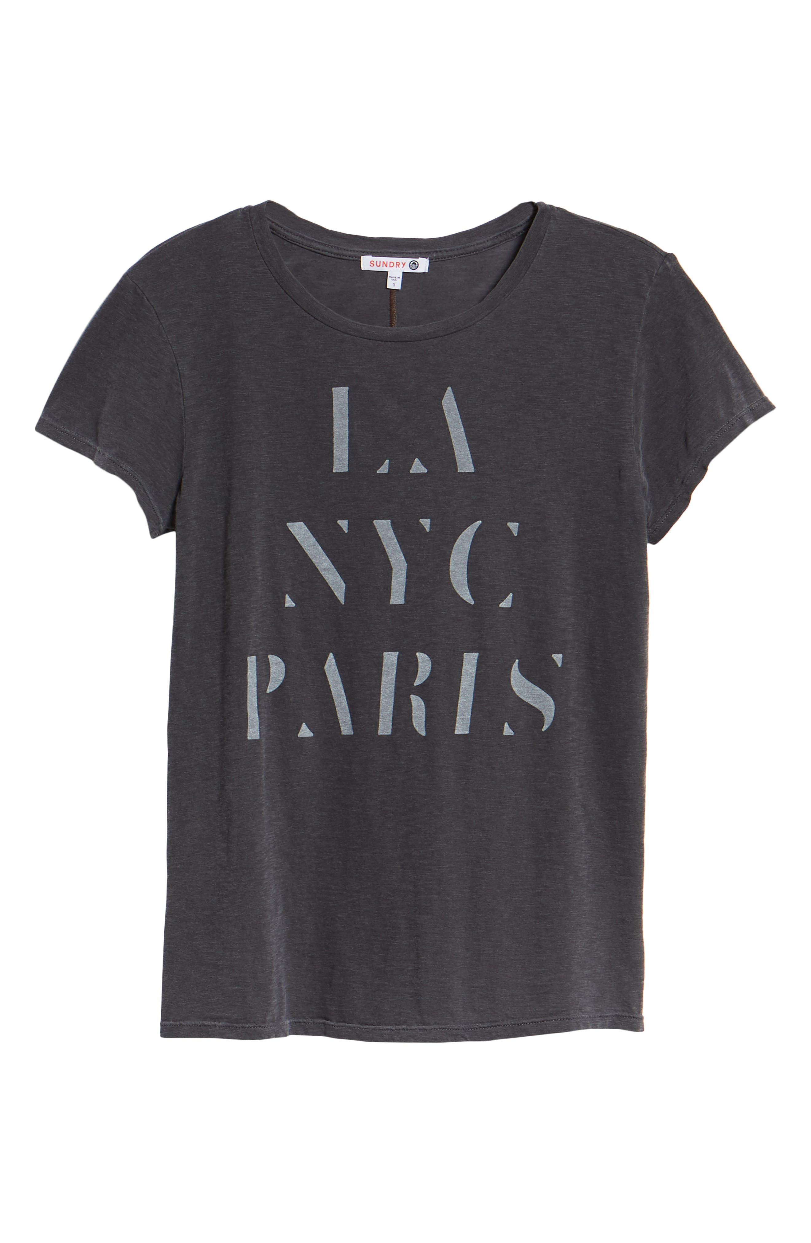 LA NYC Paris Pima Cotton Boy Tee,                             Alternate thumbnail 6, color,                             026