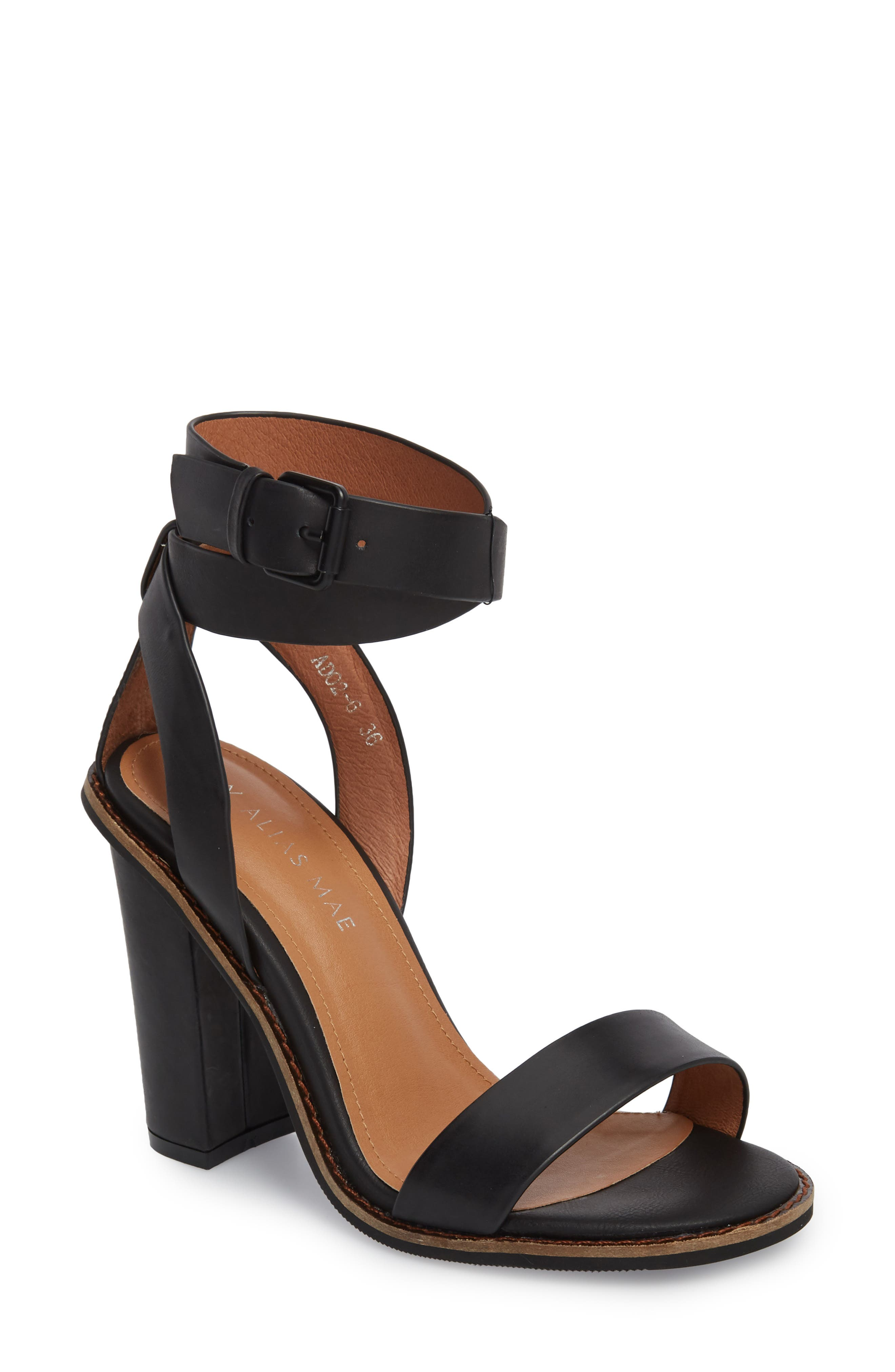 Calito Ankle Strap Sandal,                             Main thumbnail 1, color,                             001