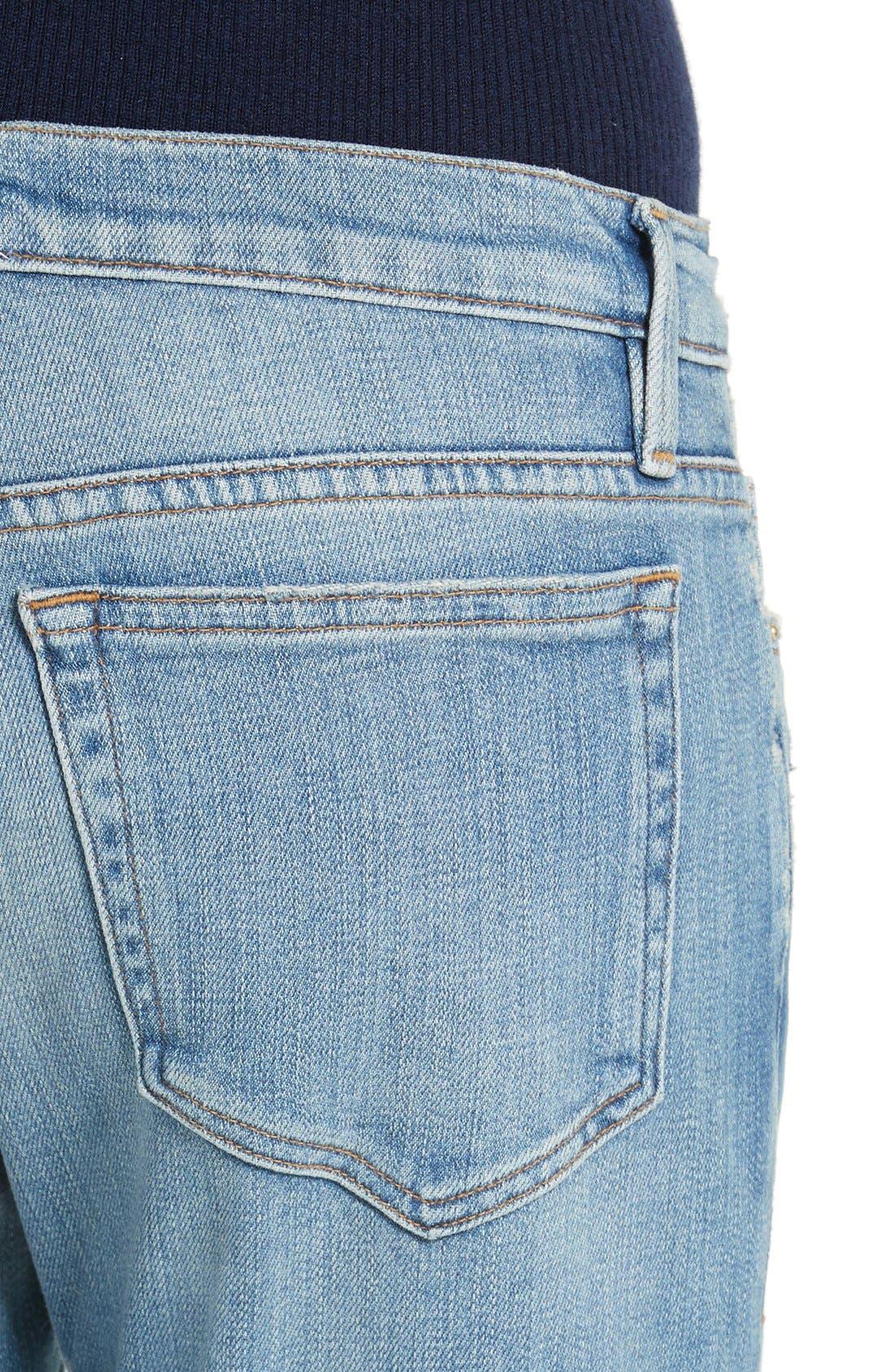 Le Boy Crop Jeans,                             Alternate thumbnail 4, color,                             420