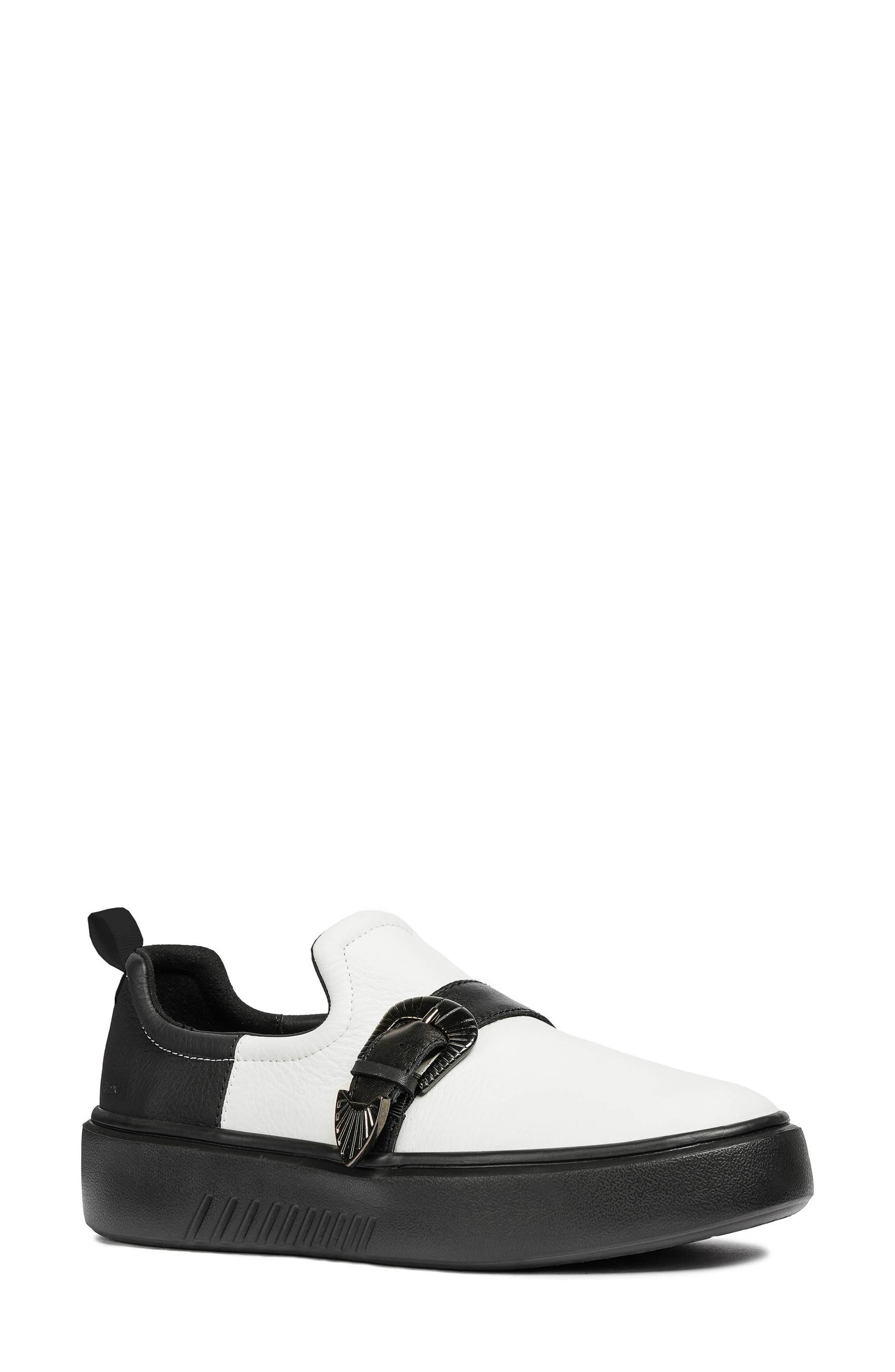 Nhenbus Platform Sneaker,                         Main,                         color, WHITE/ BLACK LEATHER