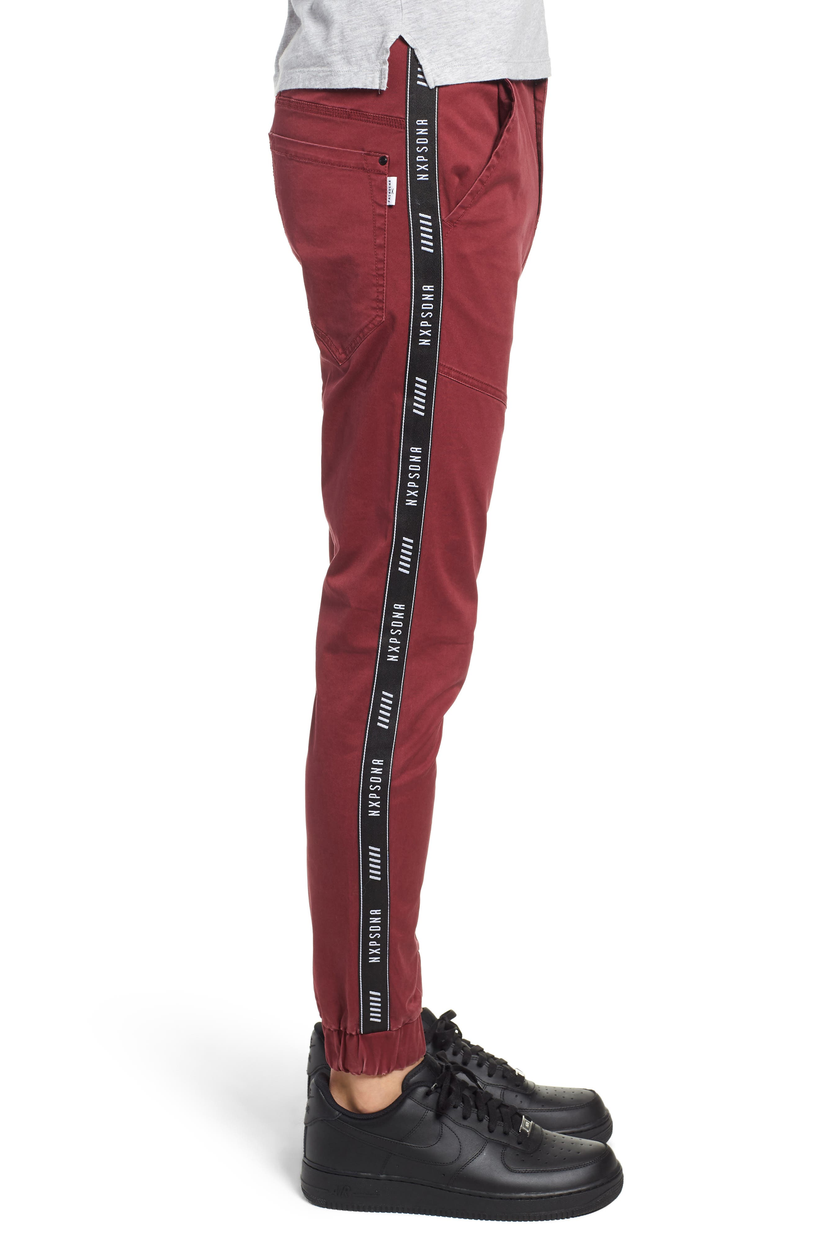 Firebrand Taped Chinos,                             Alternate thumbnail 3, color,                             BORDEAUX