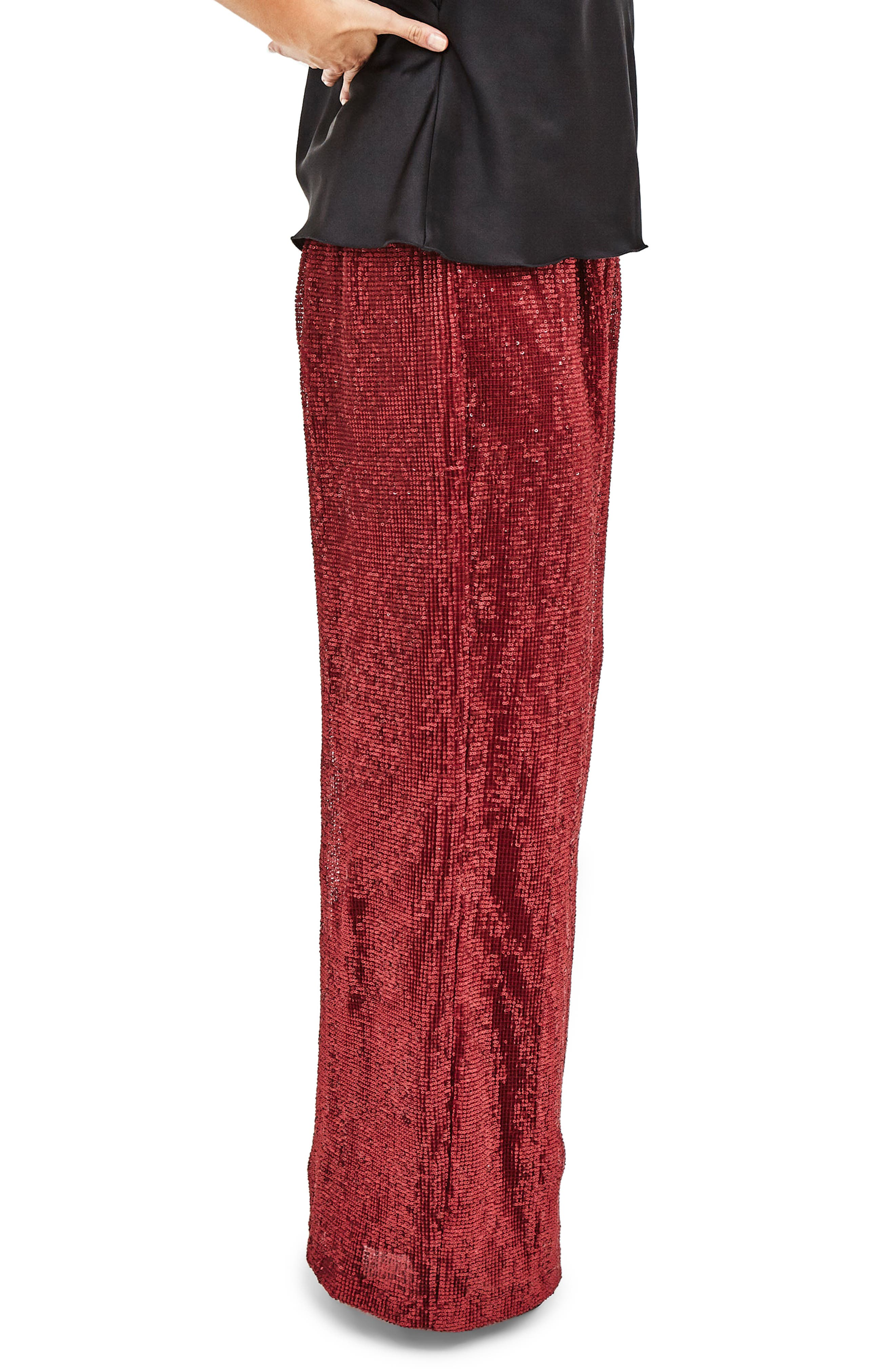 Red Sequin Trousers,                             Alternate thumbnail 3, color,                             600