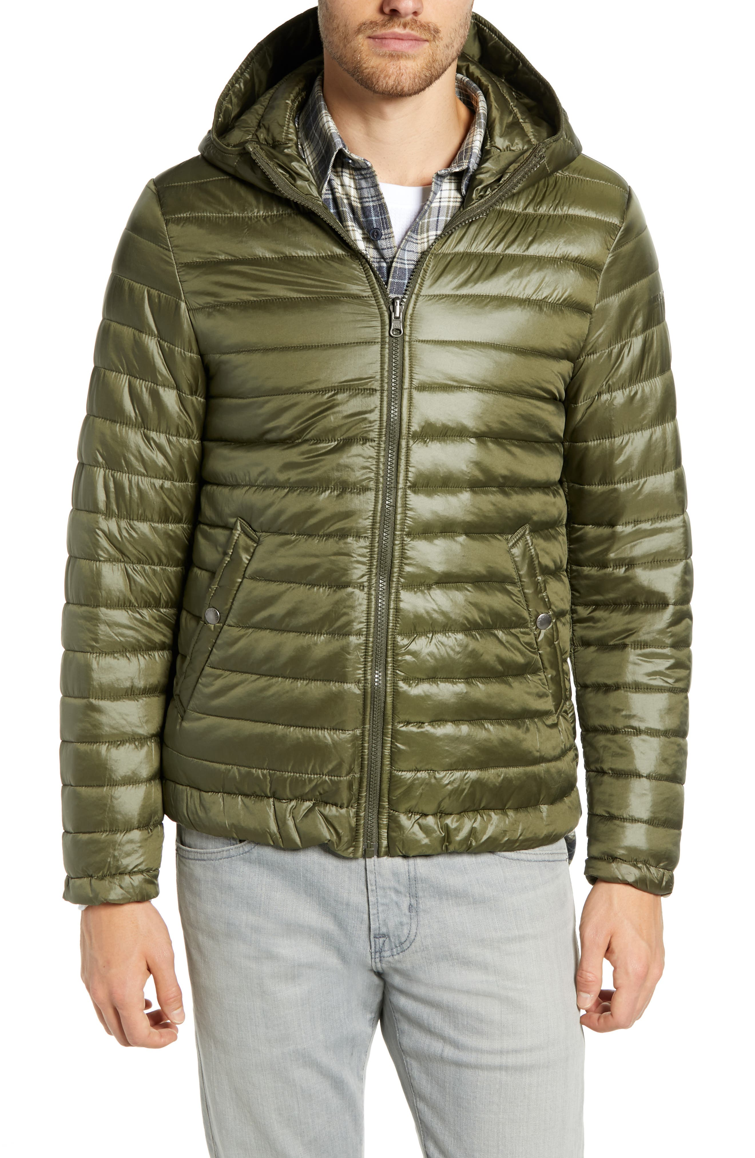 John Rich 'Long Military Eskimo' 3-in-1 Hooded Jacket,                             Alternate thumbnail 2, color,                             FLINT OLIVE