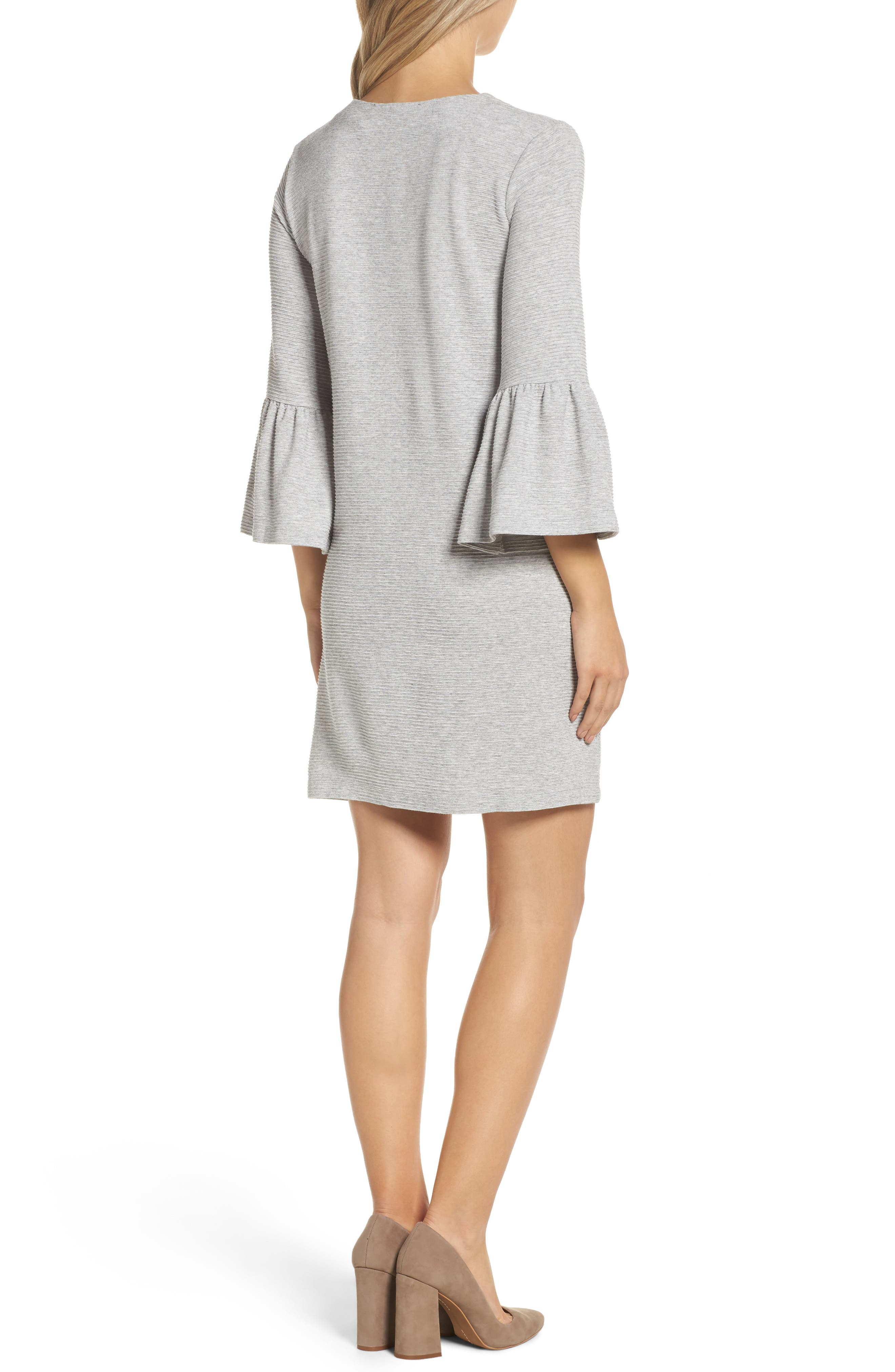 Paros Sudan Bell Sleeve Shift Dress,                             Alternate thumbnail 2, color,                             050
