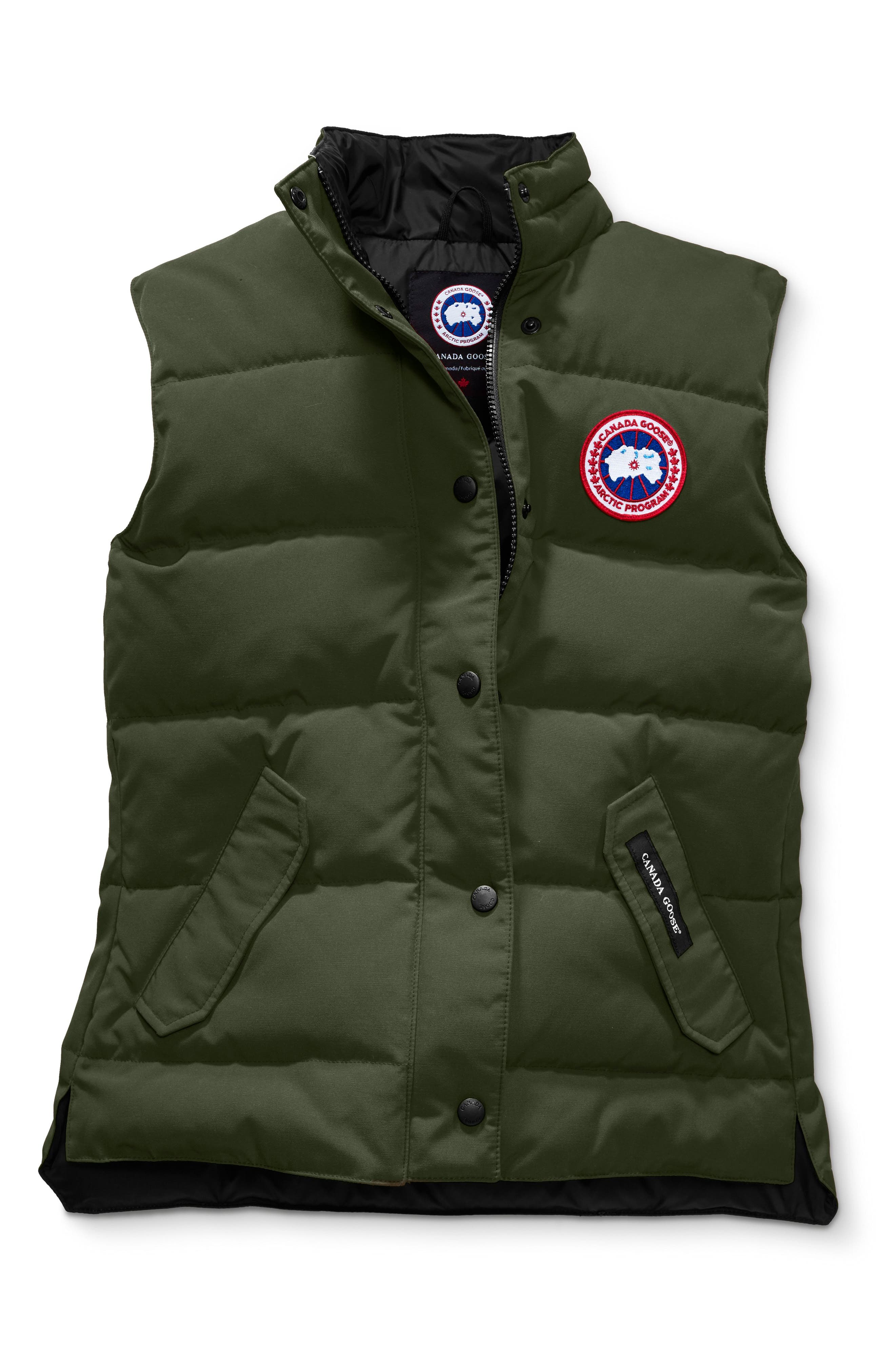 'Freestyle' Slim Fit Down Vest,                             Alternate thumbnail 4, color,                             MILITARY GREEN