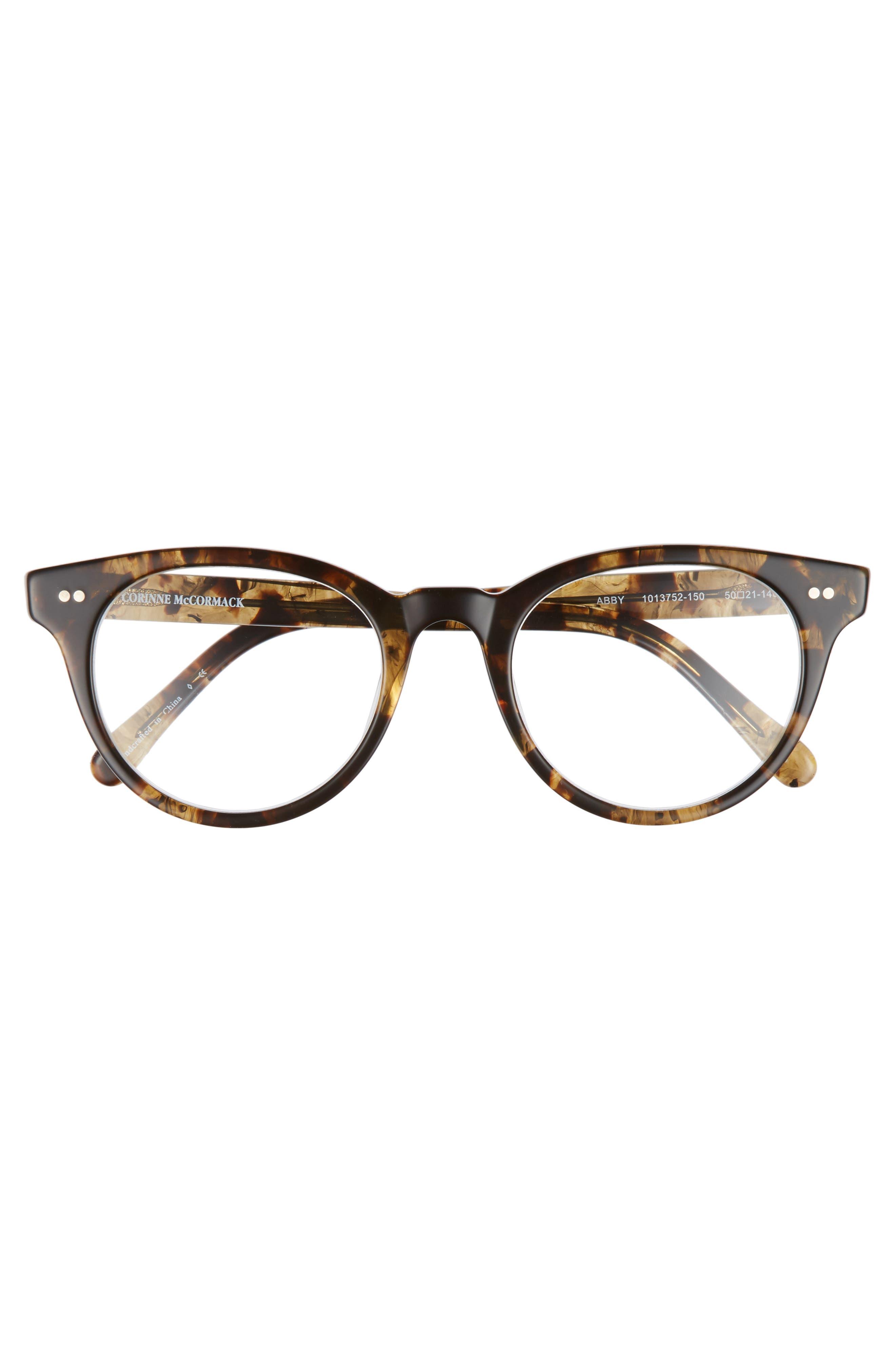 Abby 50mm Reading Glasses,                             Alternate thumbnail 3, color,                             DARK TORTOISE