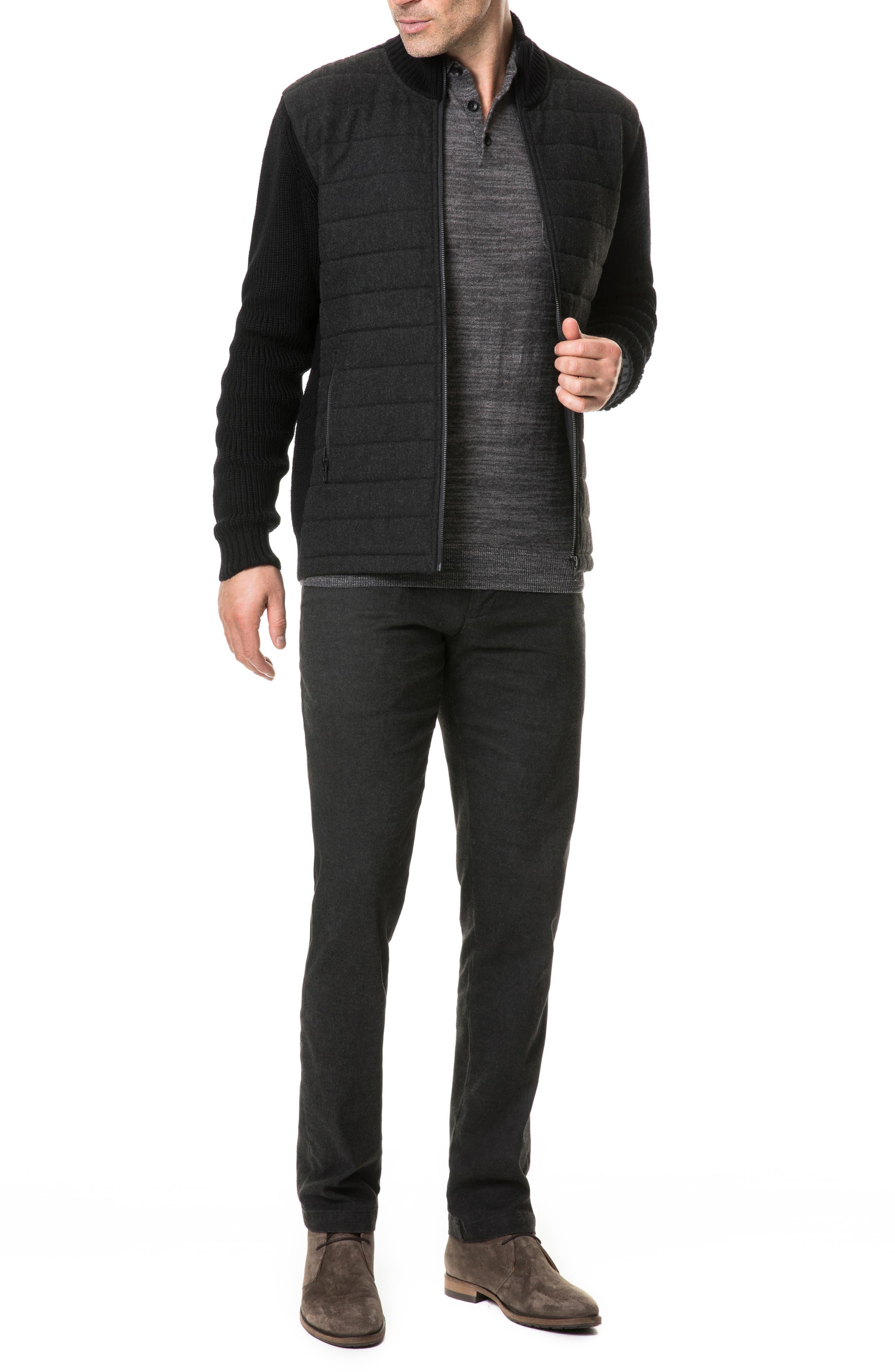 Greerton Regular Fit Zip Sweater,                             Alternate thumbnail 5, color,                             ONYX