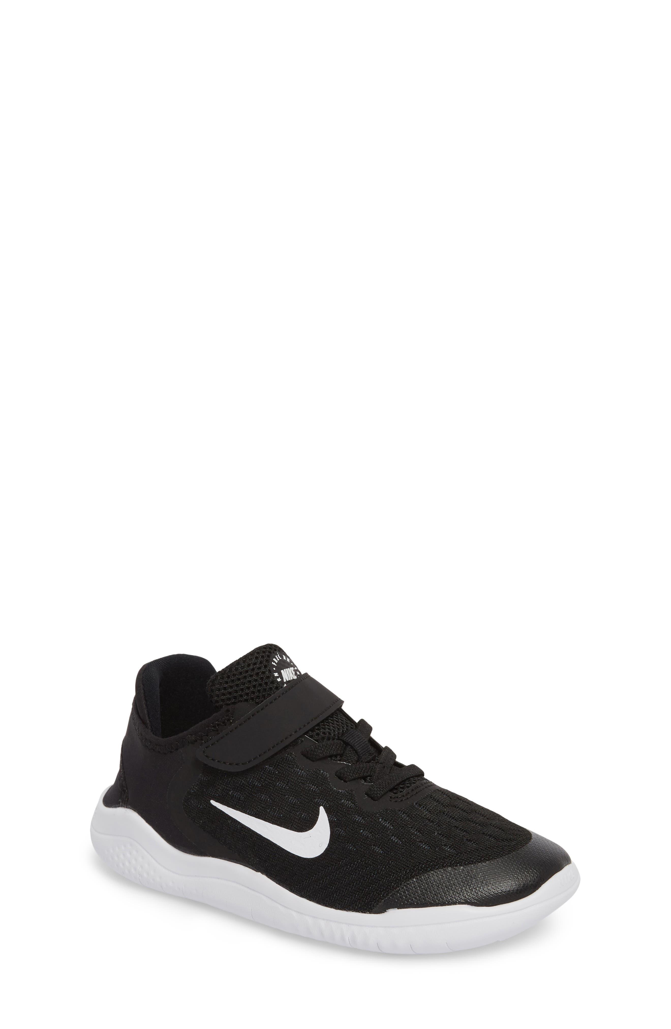 Free RN Running Shoe,                         Main,                         color, BLACK/ WHITE