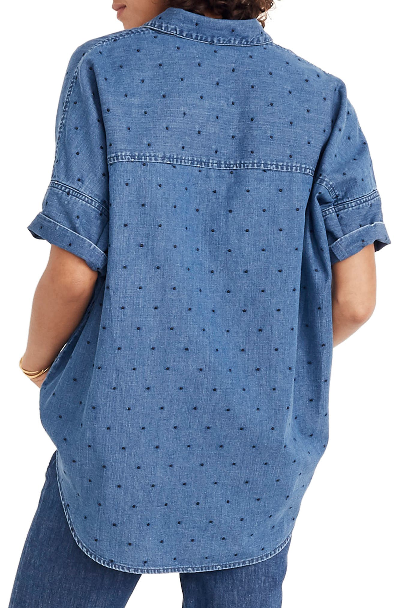 Courier Dobby Dot Shirt,                             Alternate thumbnail 2, color,                             GOODLET WASH