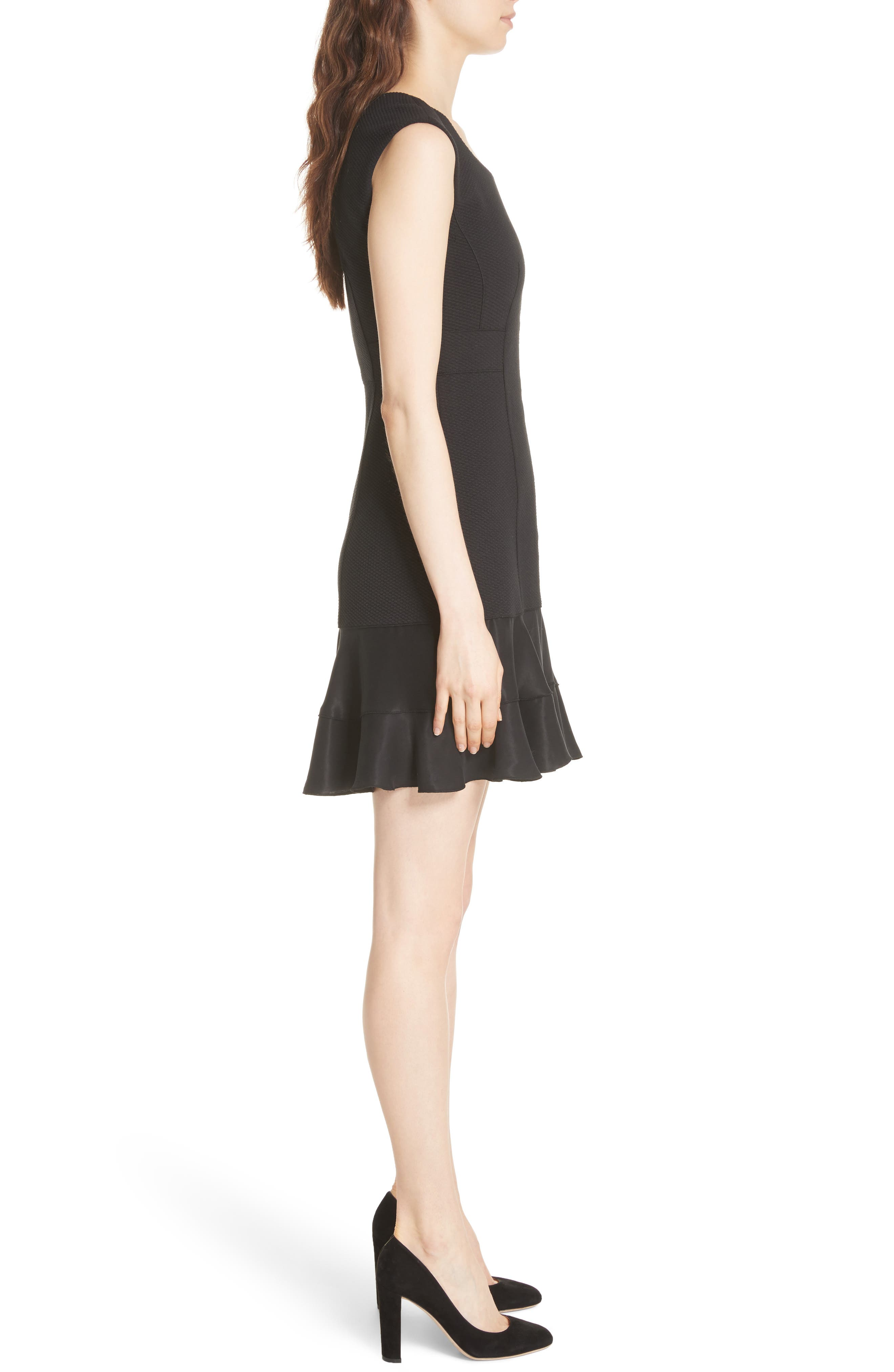Terri Dress,                             Alternate thumbnail 3, color,                             BLACK