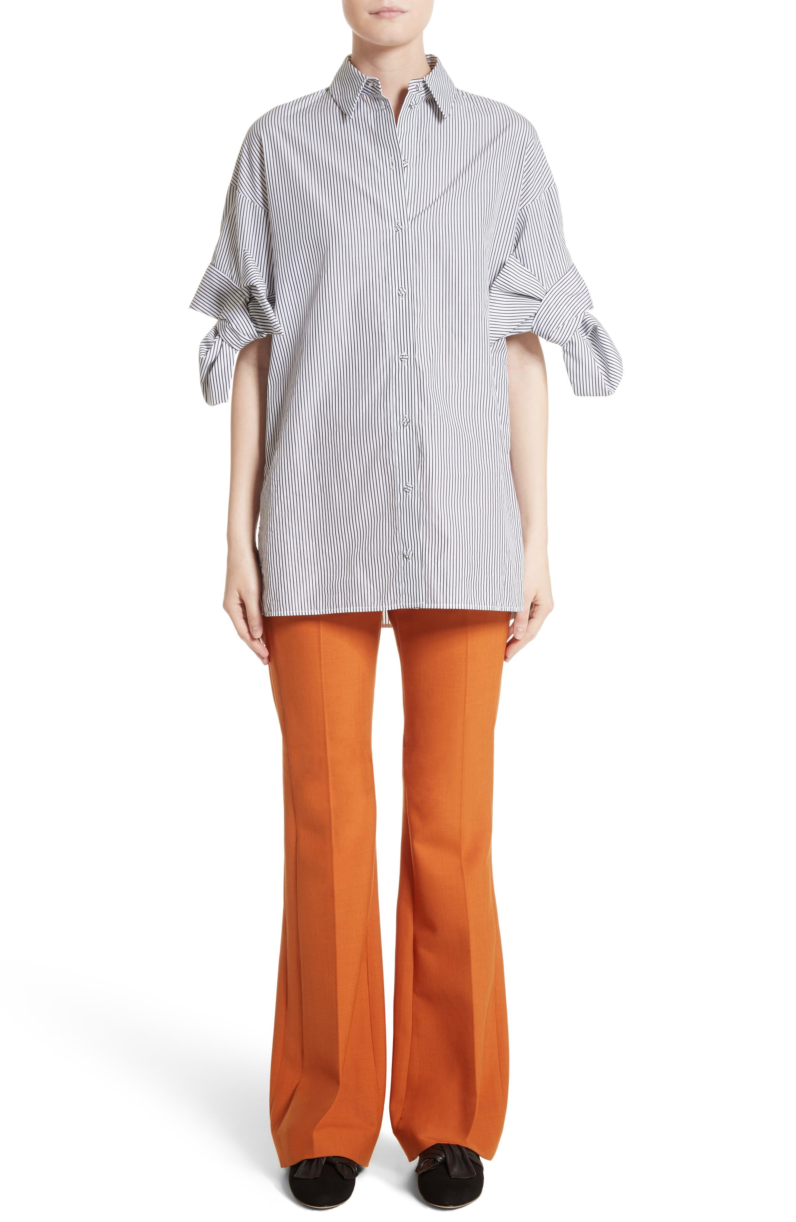 Bow Sleeve Shirt,                             Main thumbnail 1, color,                             001