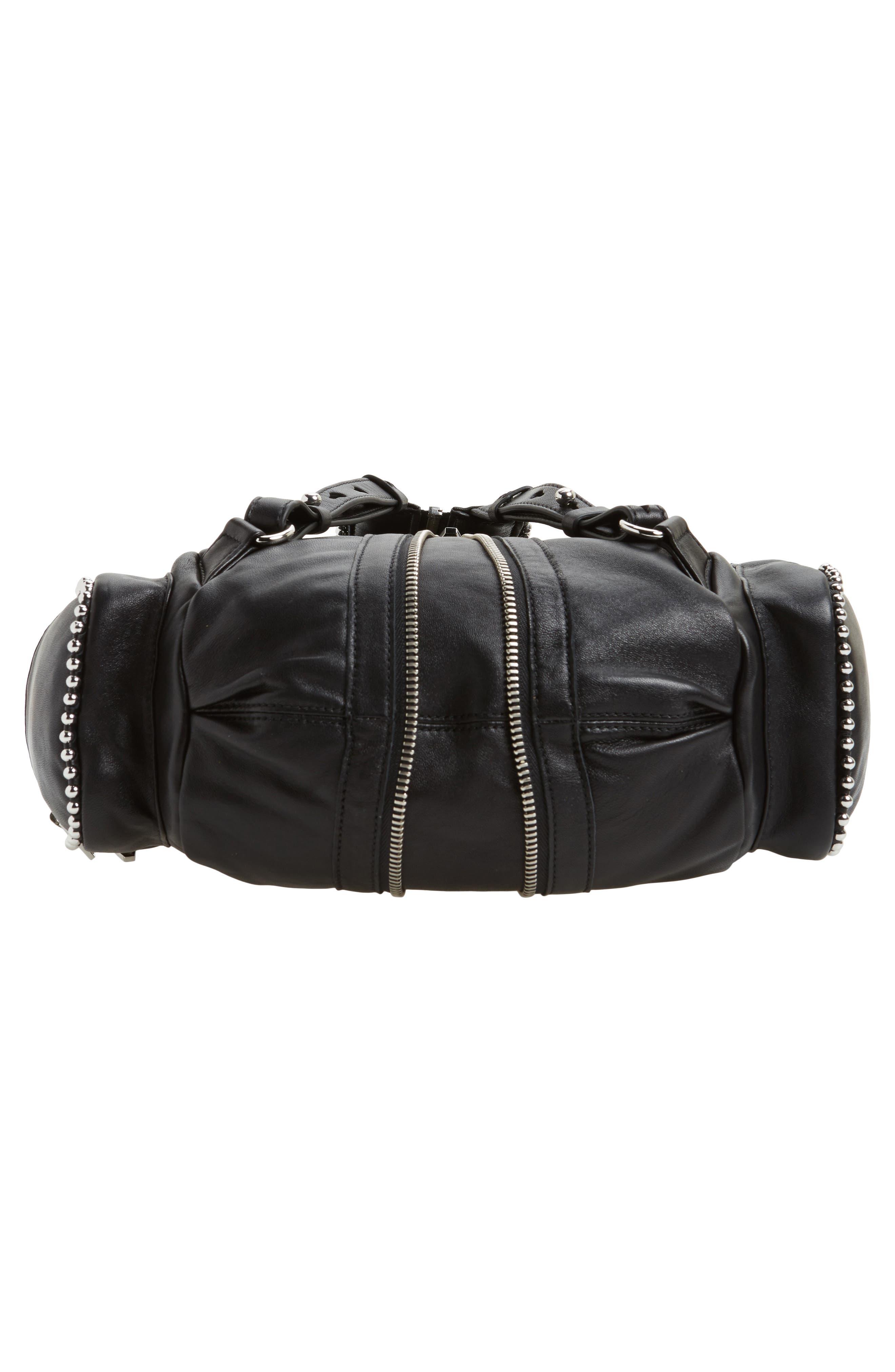 Mini Marti Ball Stud Leather Backpack,                             Alternate thumbnail 6, color,                             001