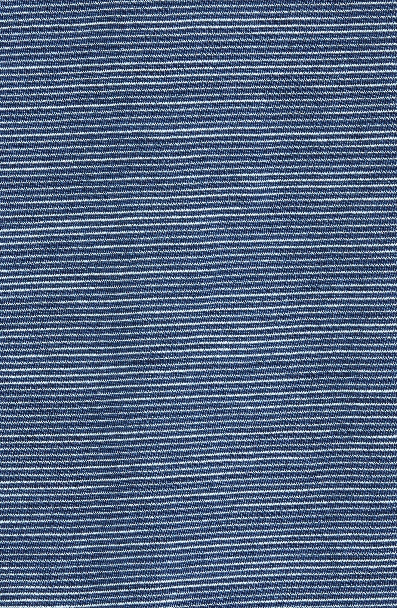 TRUE GRIT,                             Indigo Stripe Jersey Polo,                             Alternate thumbnail 5, color,                             400