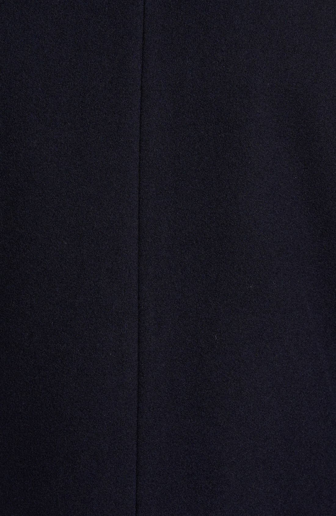 VINCE CAMUTO,                             Classic Wool Blend Car Coat with Inset Bib,                             Alternate thumbnail 6, color,                             NAVY