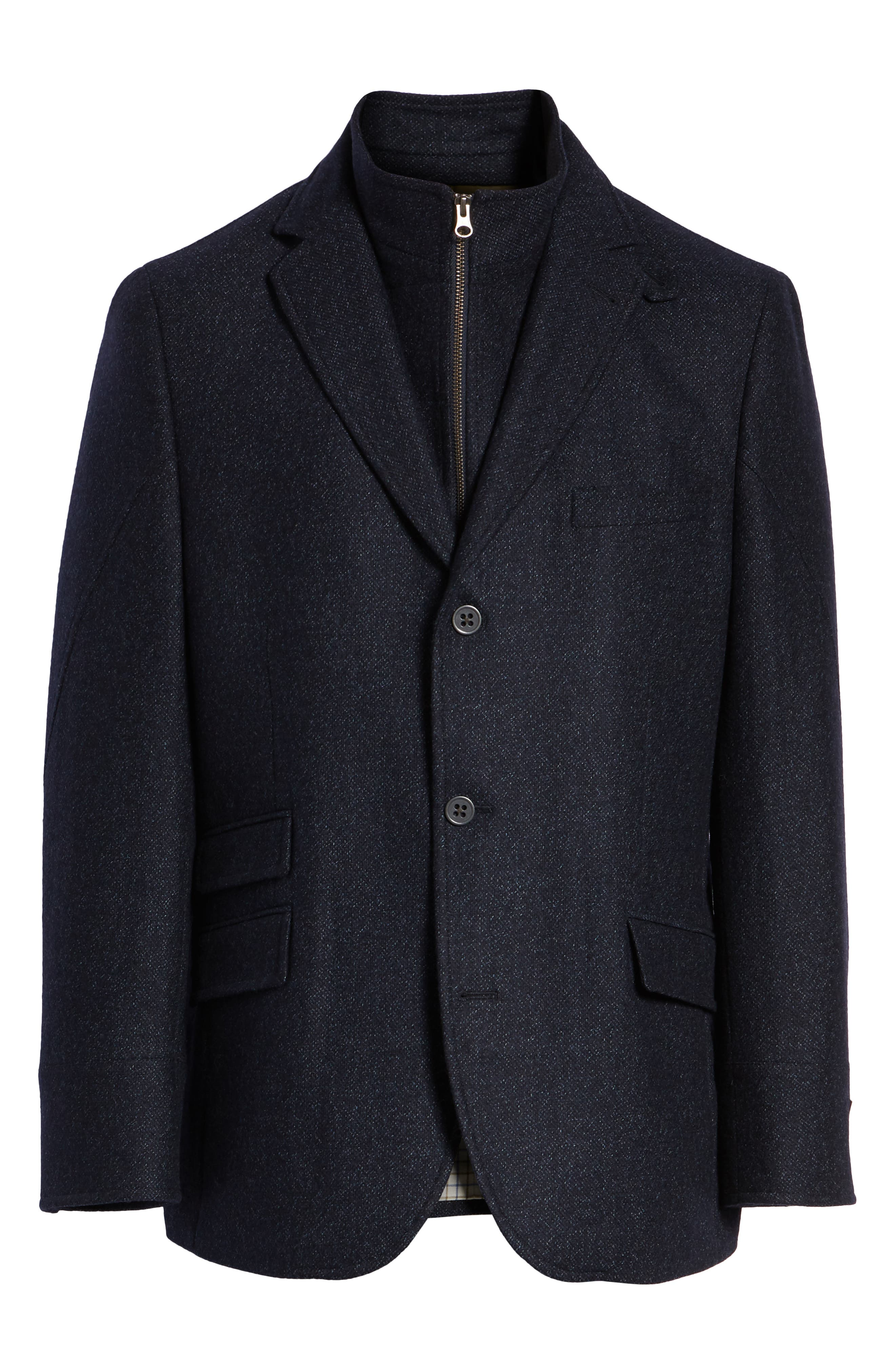 Hybrid Wool & Cashmere Sport Coat,                             Alternate thumbnail 5, color,                             BLUE