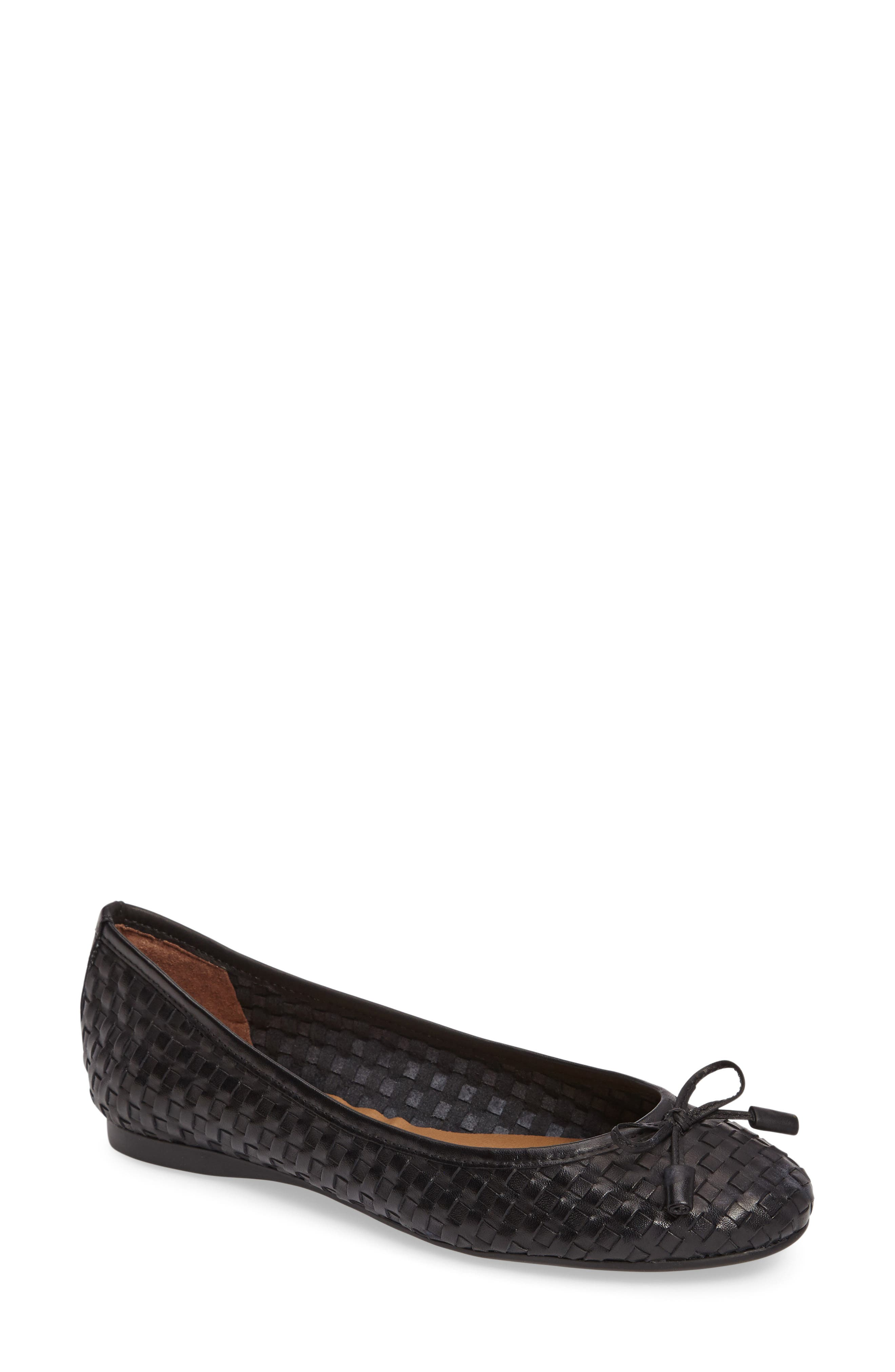 FRENCH SOLE Vogue Ballet Flat, Main, color, 001