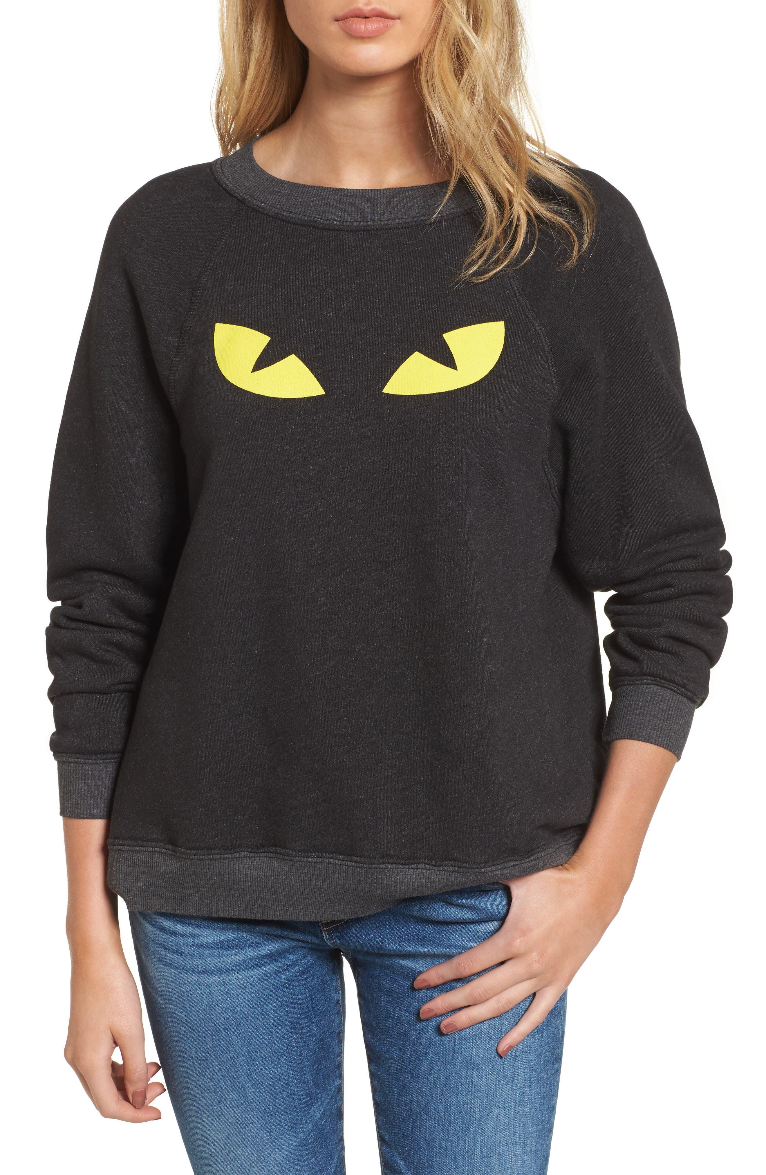 WILDFOX I'm a Cat Sommer Sweatshirt, Main, color, 001
