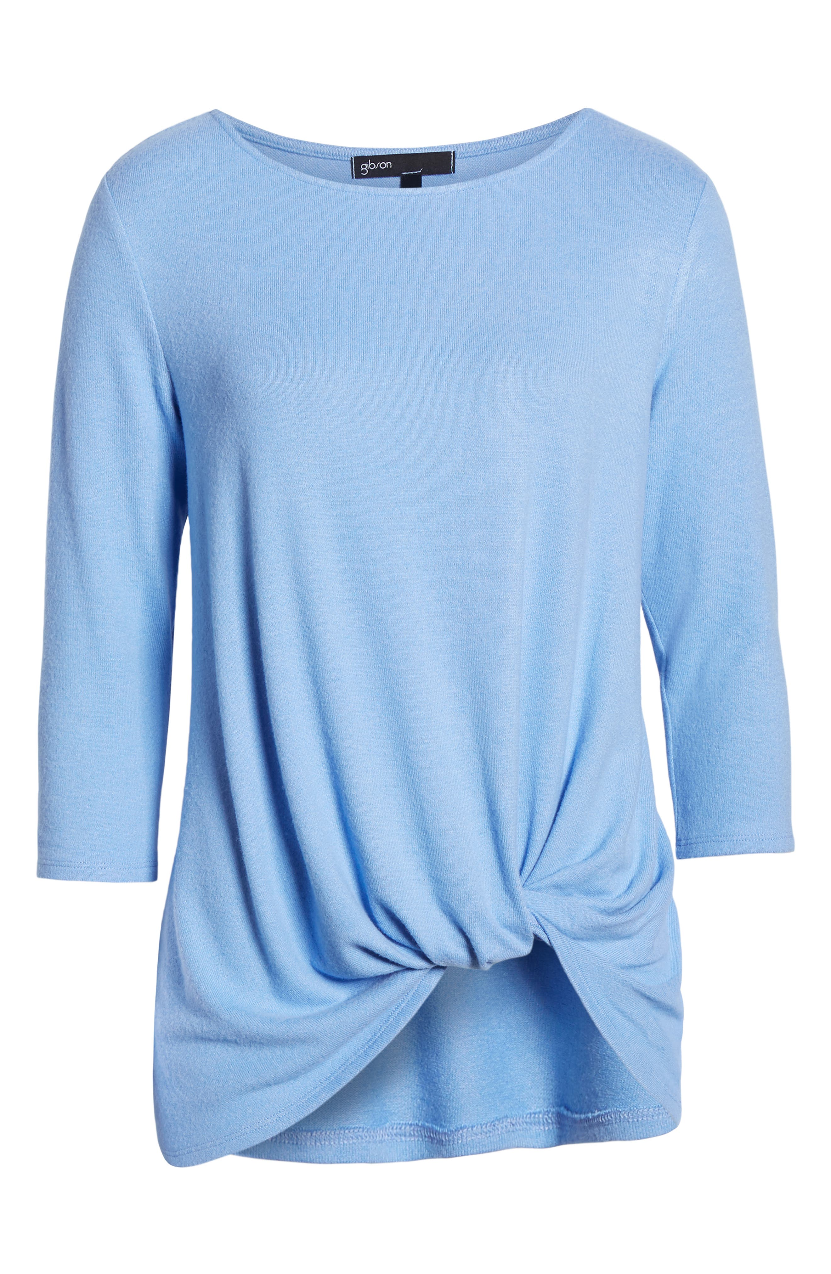GIBSON,                             Cozy Twist Front Pullover,                             Alternate thumbnail 6, color,                             CORNFLOWER