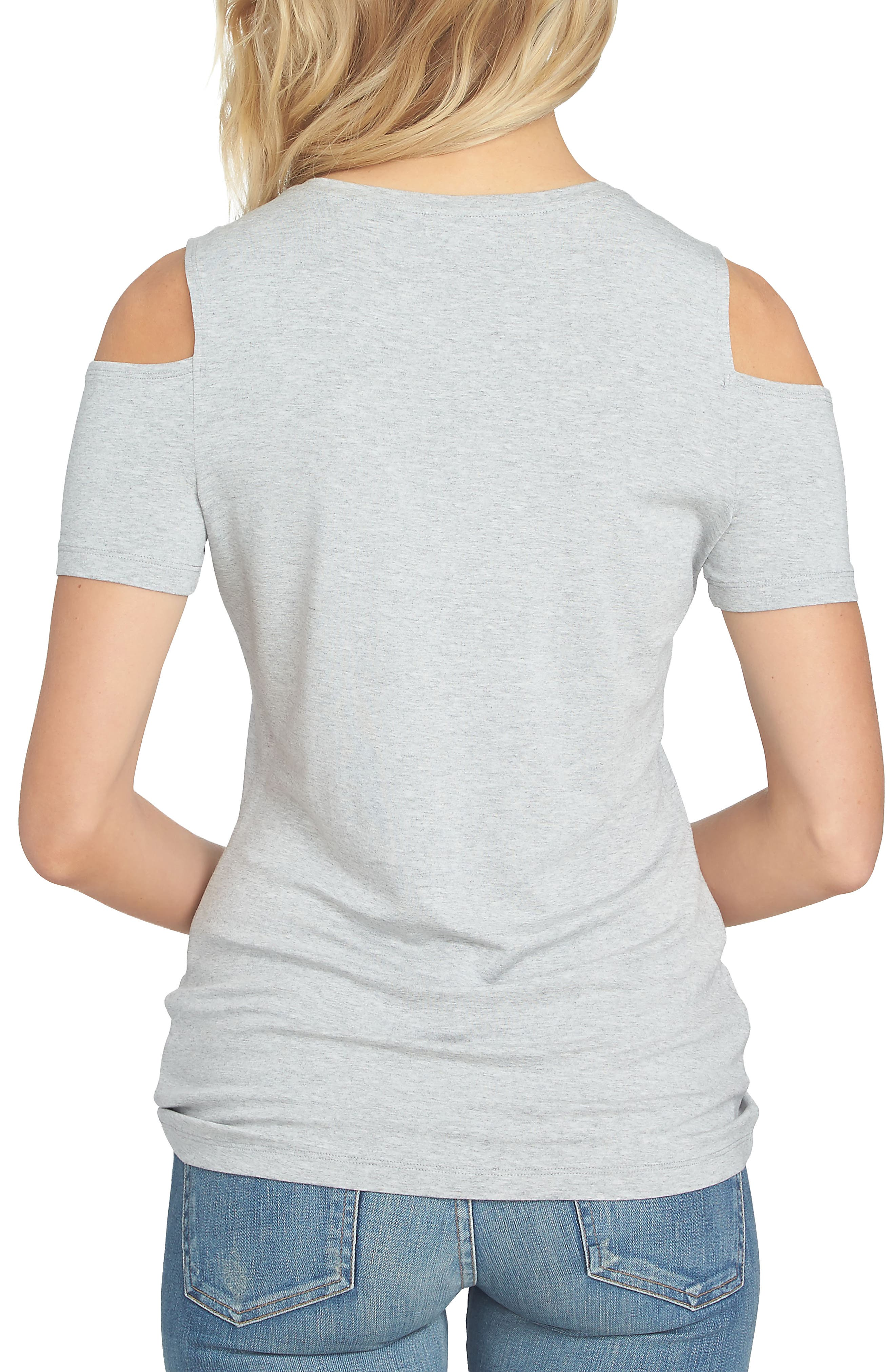 Cold Shoulder Tee,                             Alternate thumbnail 2, color,                             028