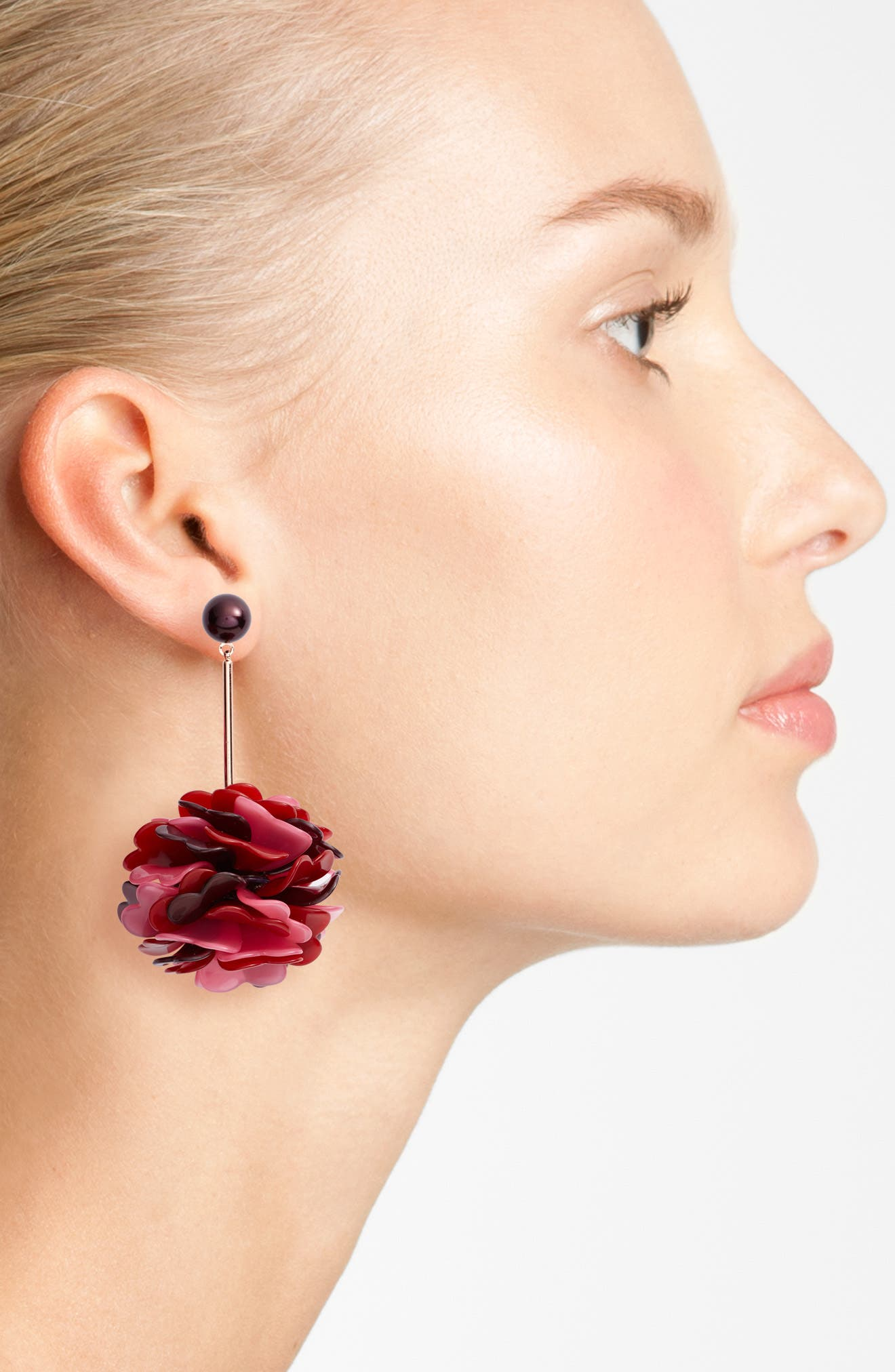 rosy outlook statement earrings,                             Alternate thumbnail 2, color,                             650