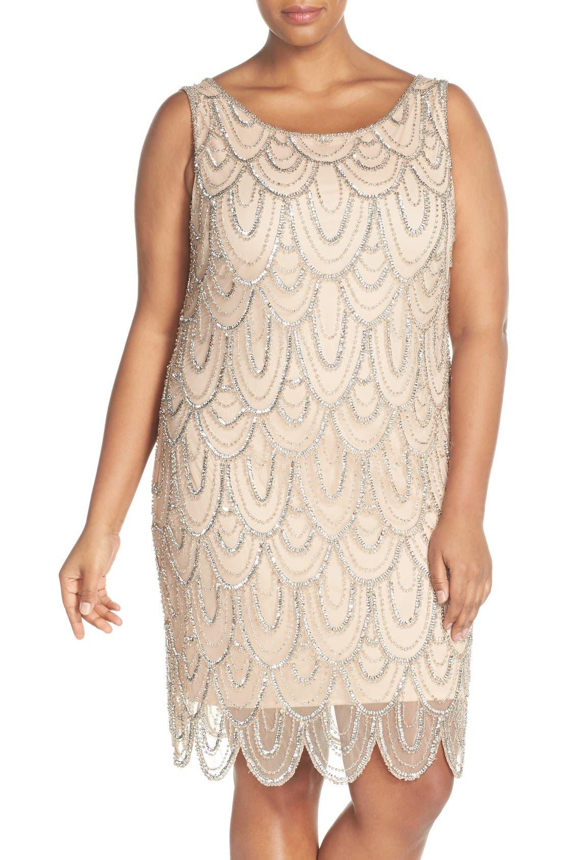 Beaded Sheath Dress,                             Main thumbnail 11, color,