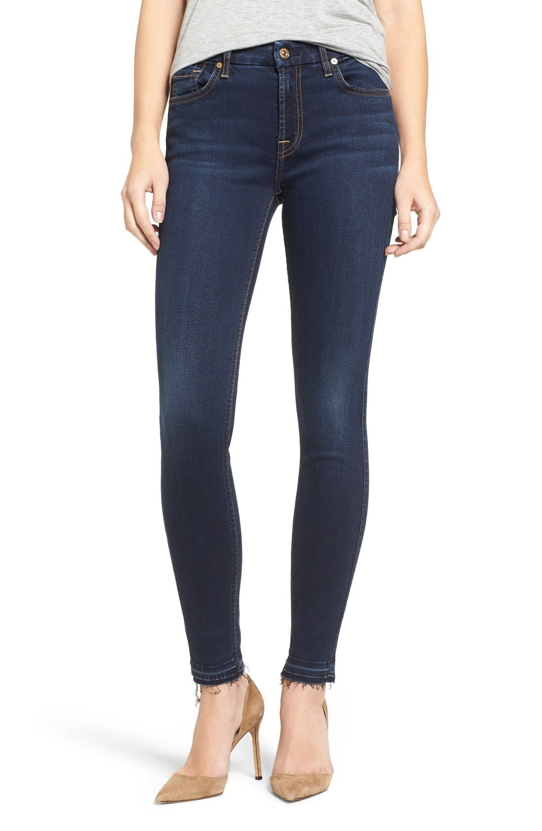b(air) Ankle Skinny Jeans,                             Alternate thumbnail 6, color,                             400