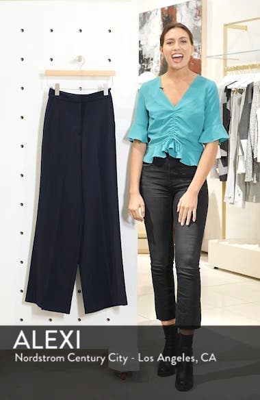 Clean High-Waist Wide Leg Trousers, sales video thumbnail