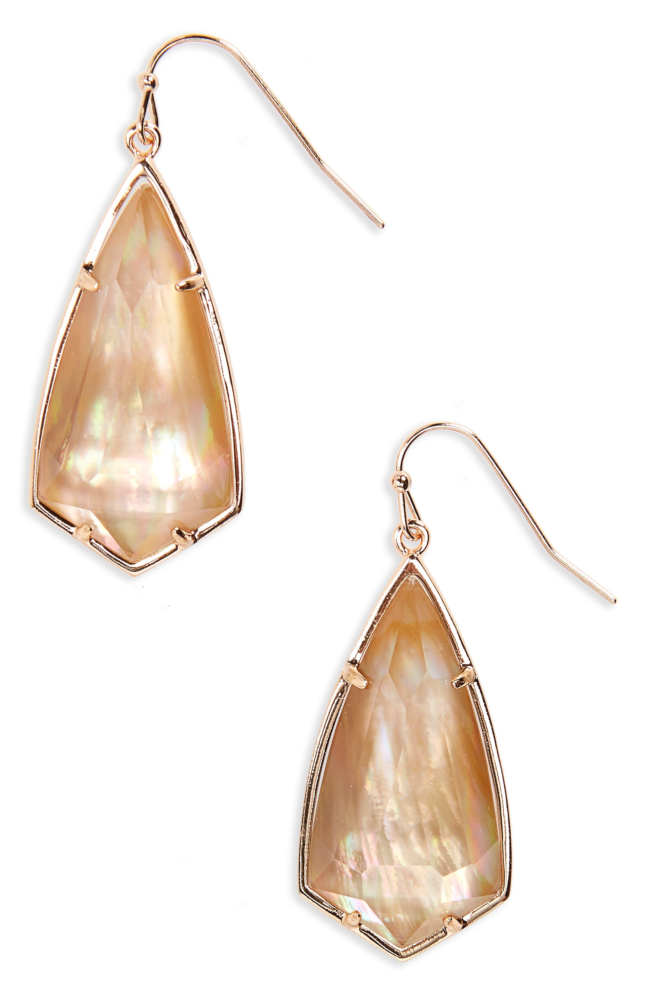 Carla Semiprecious Stone Drop Earrings,                             Main thumbnail 9, color,