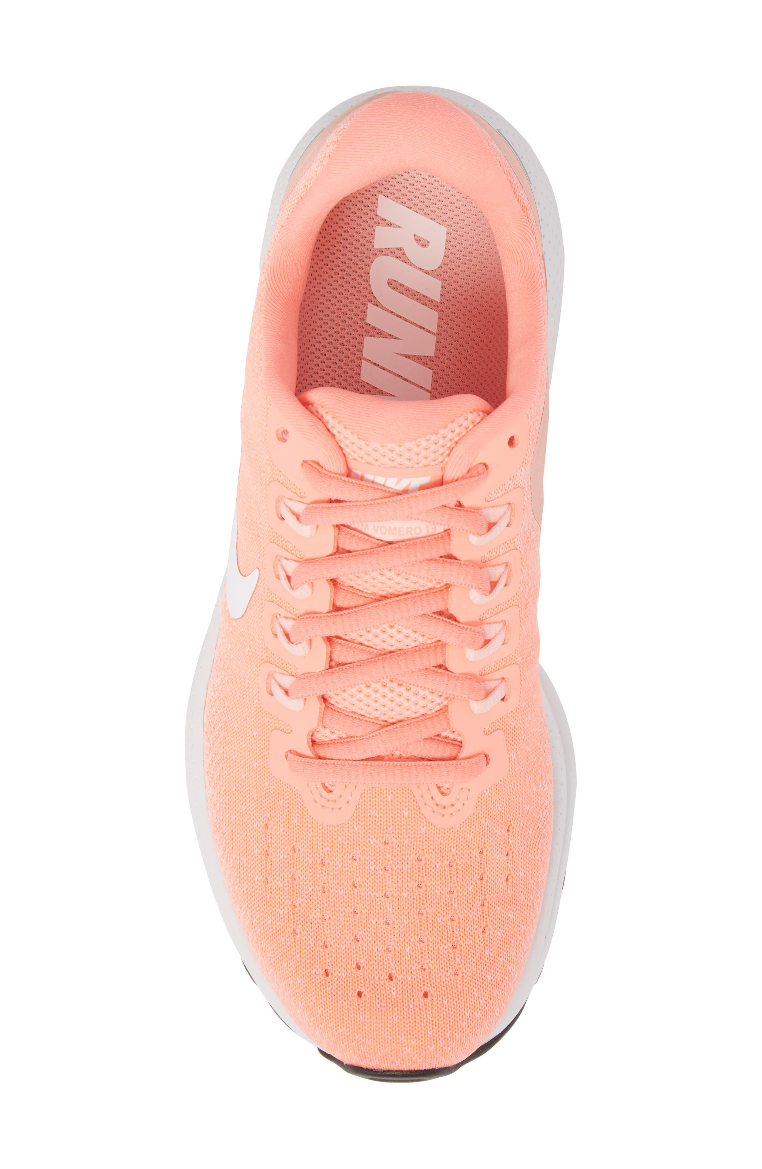 Air Zoom Vomero 13 Running Shoe,                             Alternate thumbnail 5, color,                             LIGHT ATOMIC PINK/ WHITE