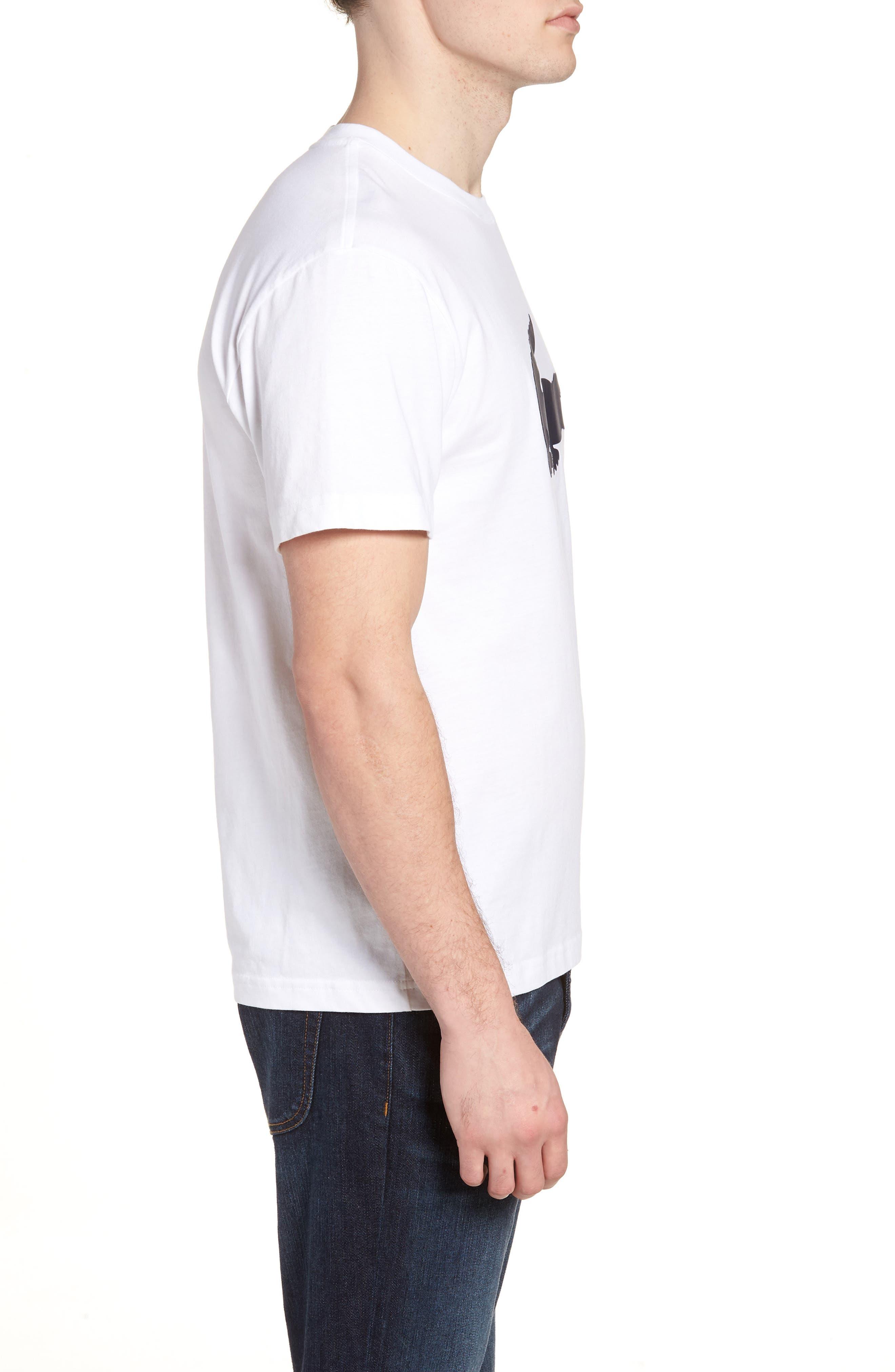Crocodile T-Shirt,                             Alternate thumbnail 3, color,                             WHITE/ NAVY BLUE