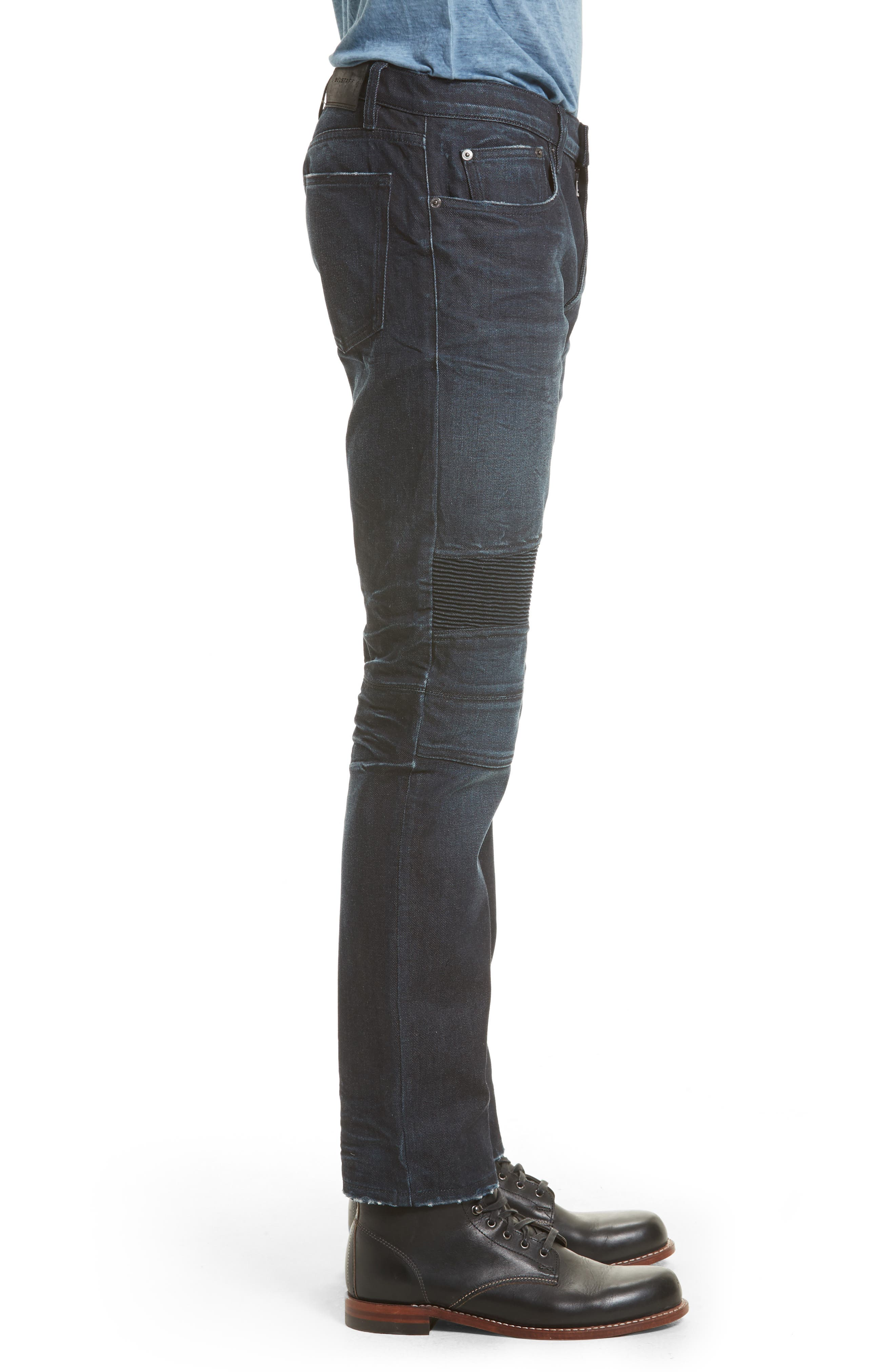 Eastham Washed Moto Jeans,                             Alternate thumbnail 3, color,