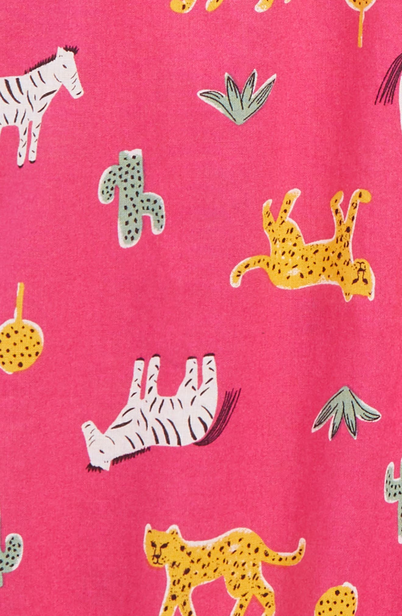 Floral Print Romper,                             Alternate thumbnail 2, color,                             PINK BERRY SAFARI