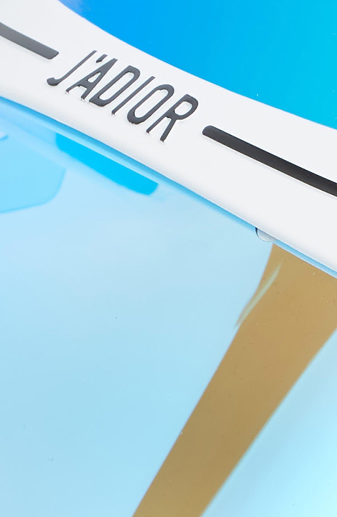 DiorClub1 Visor,                             Alternate thumbnail 3, color,                             METALLIC BLUE/ GUNMETAL