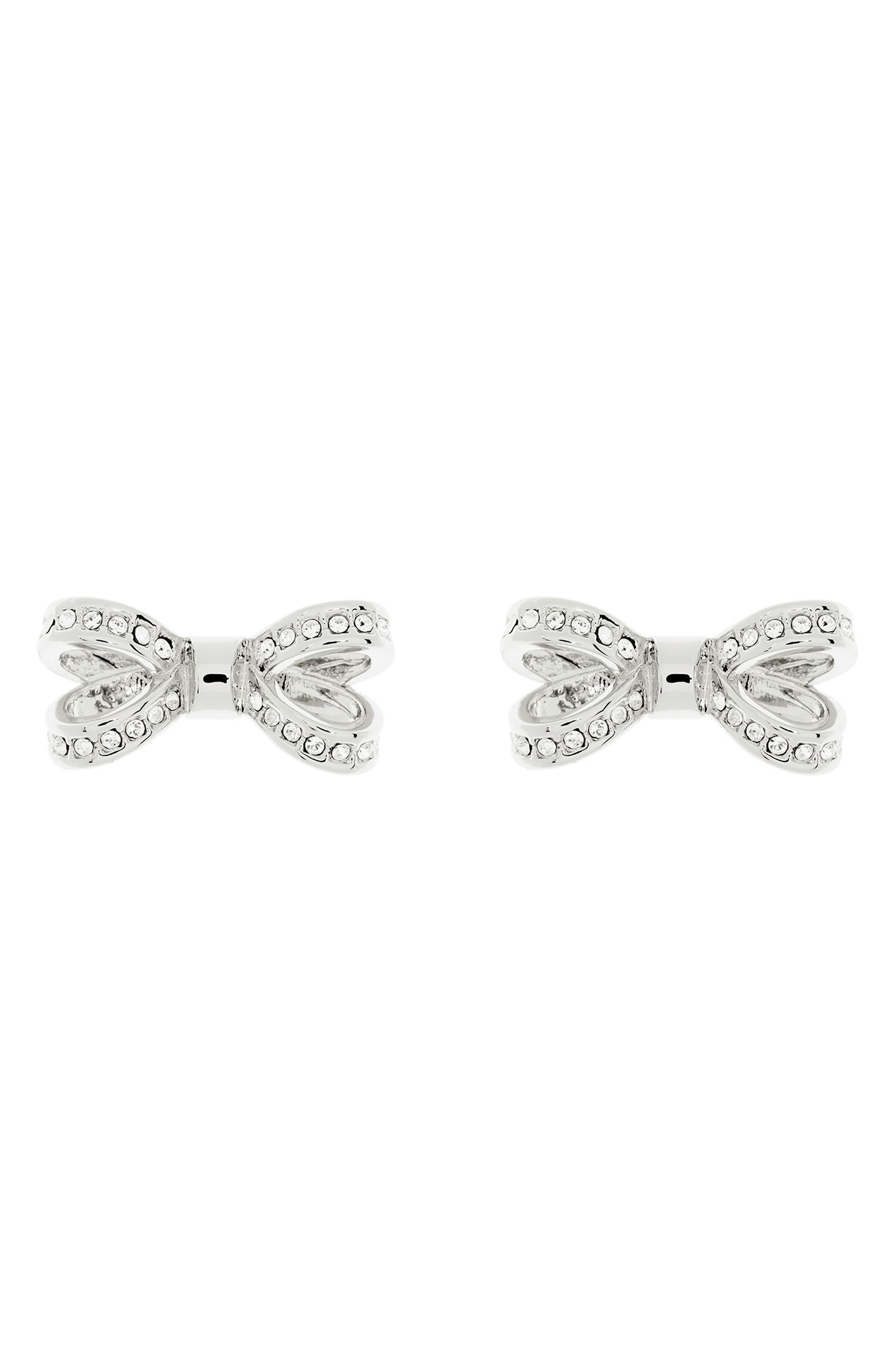 Mini Opulent Pavé Bow Stud Earrings,                             Main thumbnail 1, color,                             041
