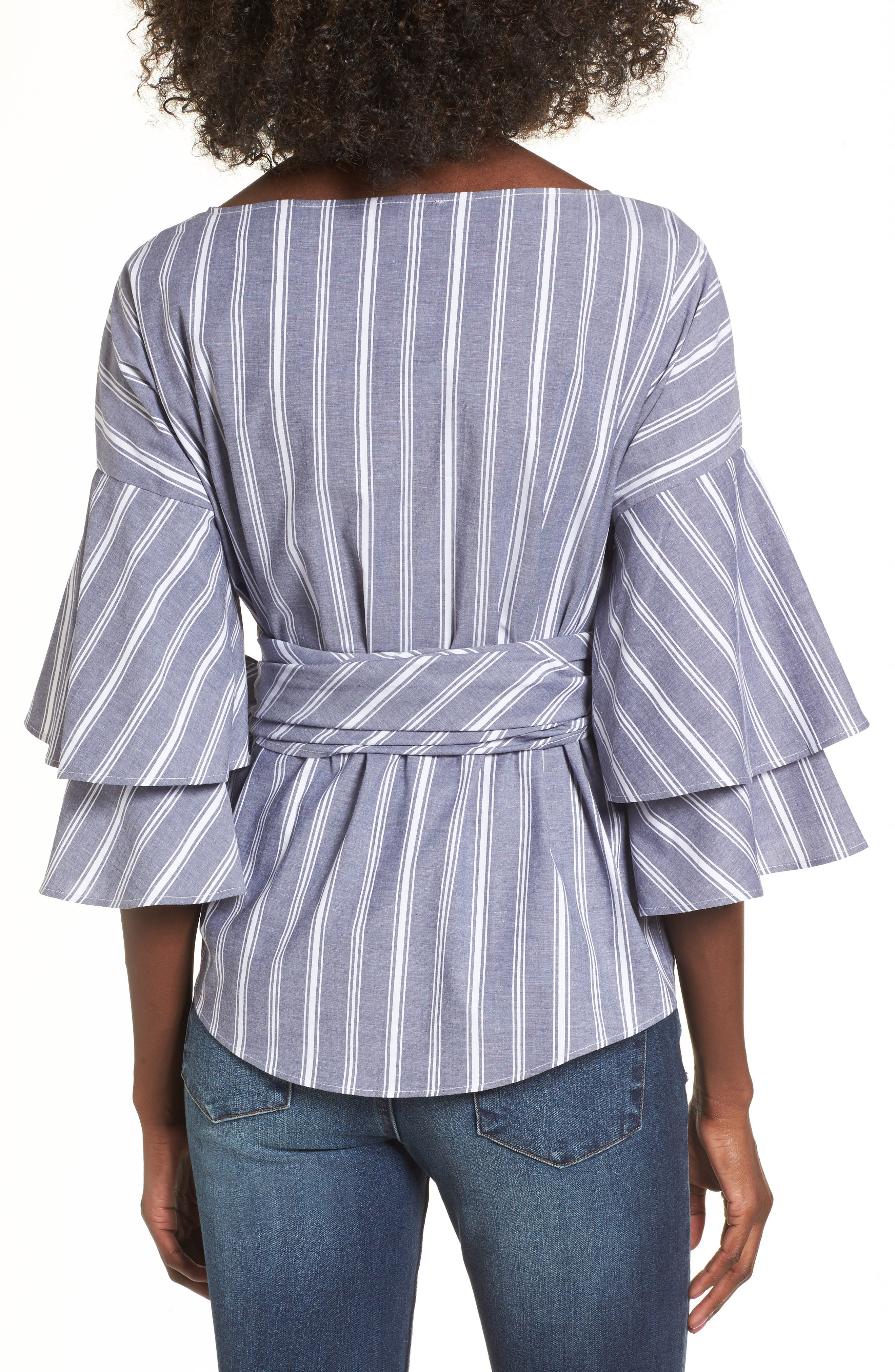 Beckett Tiered Bell Sleeve Top,                             Alternate thumbnail 10, color,